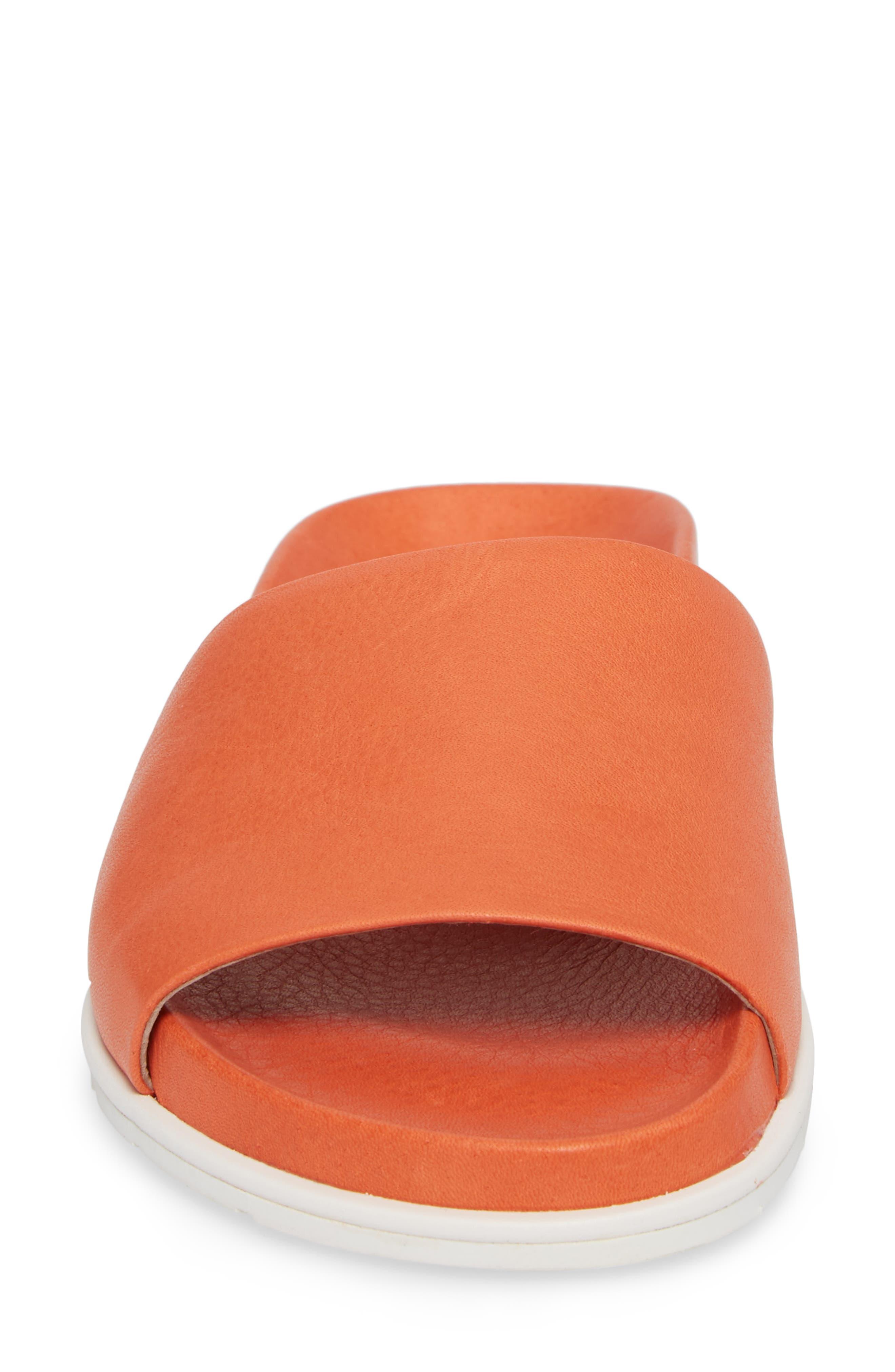 by Kenneth Cole Iona Slide Sandal,                             Alternate thumbnail 4, color,                             Orange Leather