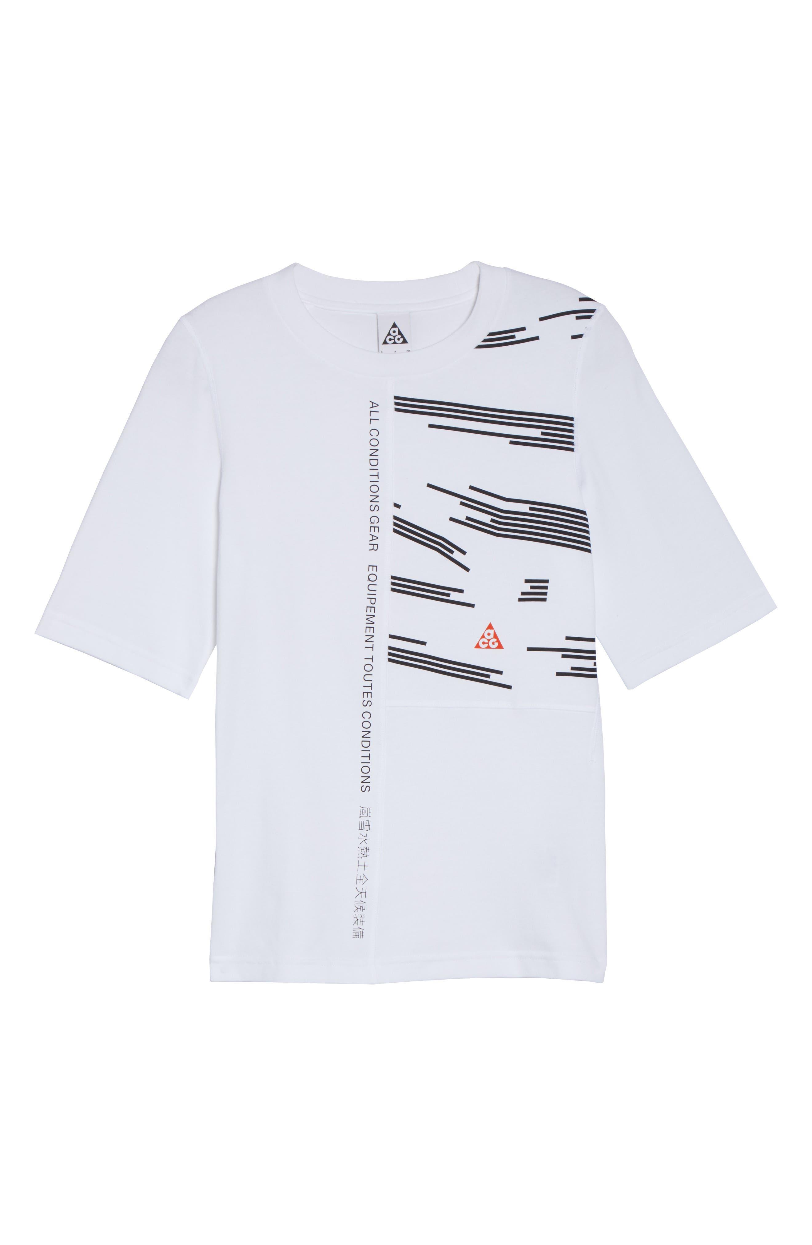 NikeLab AGC Tee,                             Alternate thumbnail 7, color,                             White/ Black