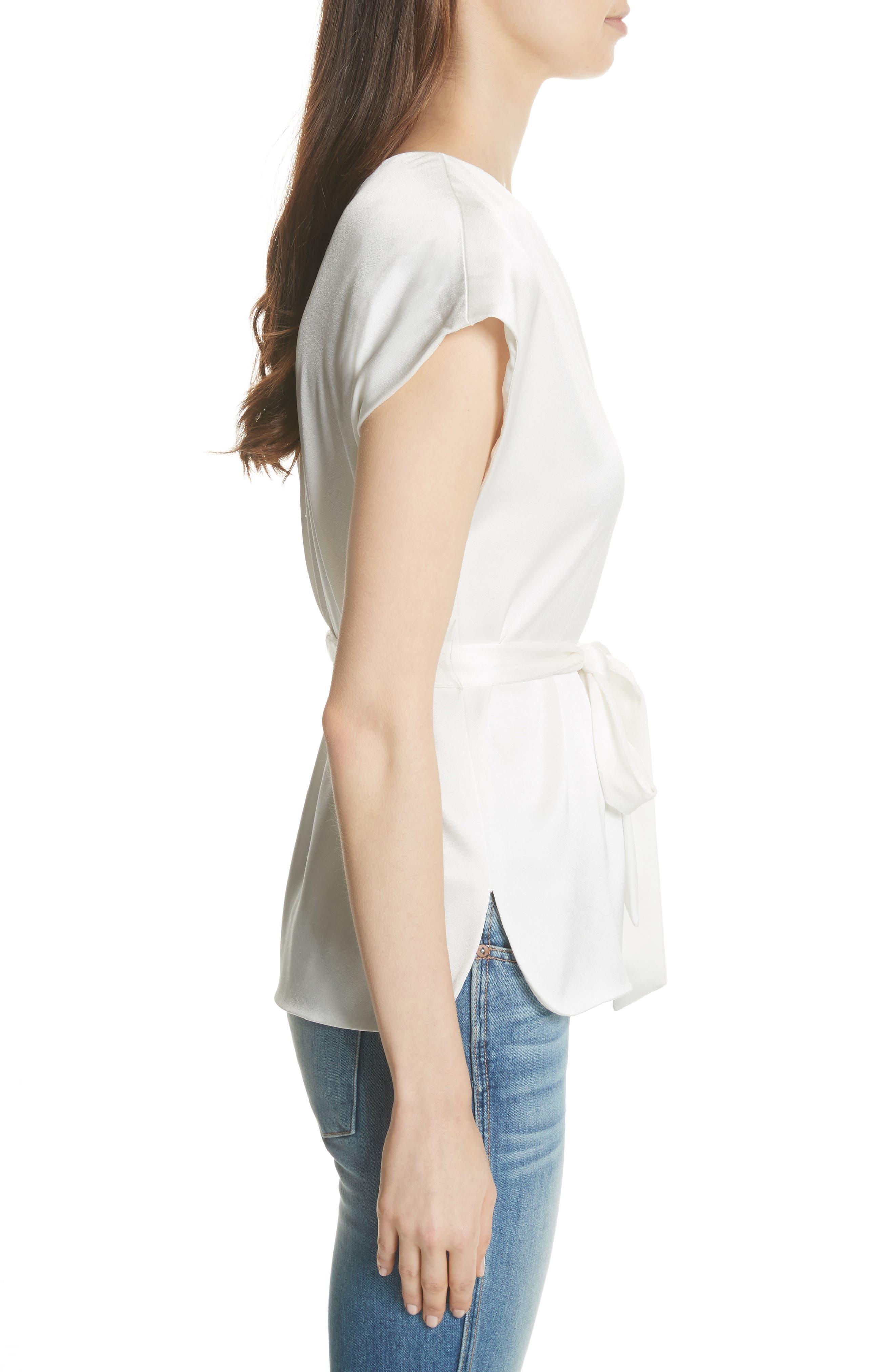 Lavine One-Shoulder Top,                             Alternate thumbnail 3, color,                             White