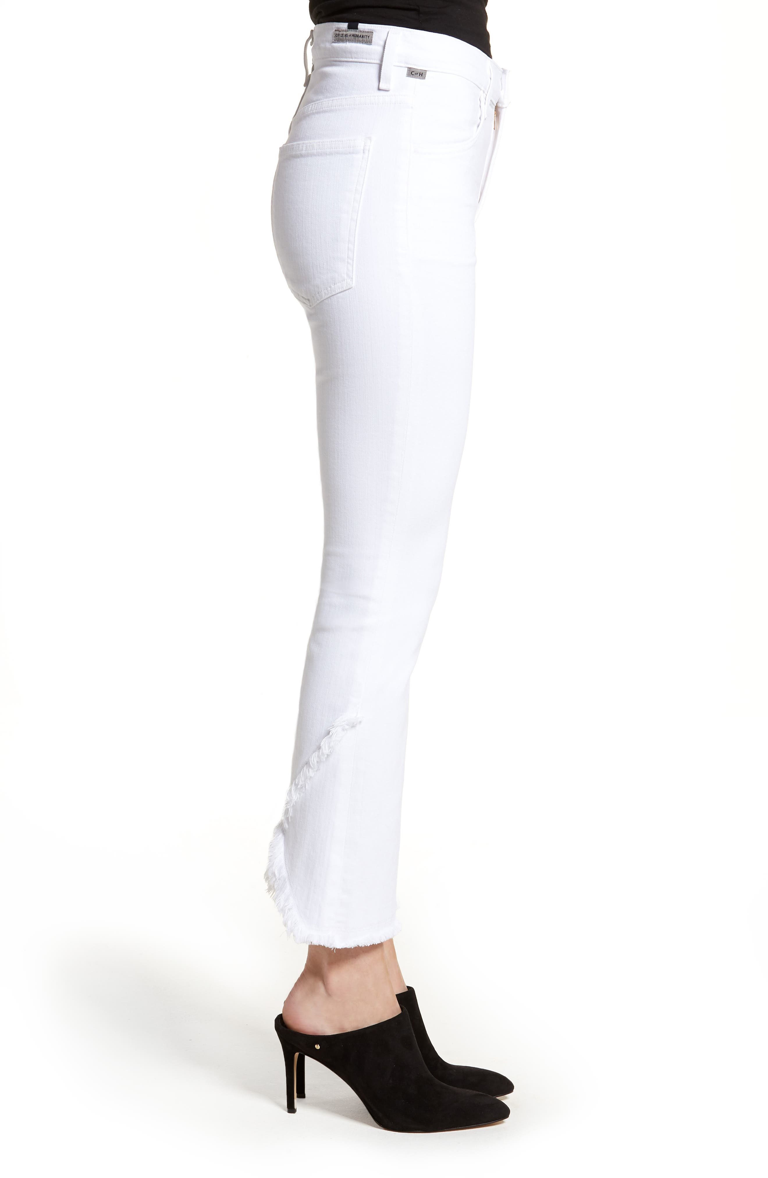 Alternate Image 3  - Citizens of Humanity Drew Flare Jeans (Optic White)
