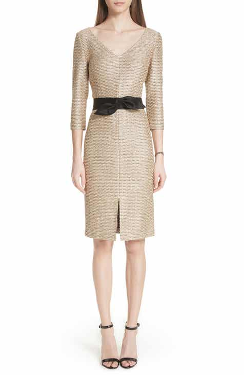 St John Collection Glamour Sequin Knit Dress
