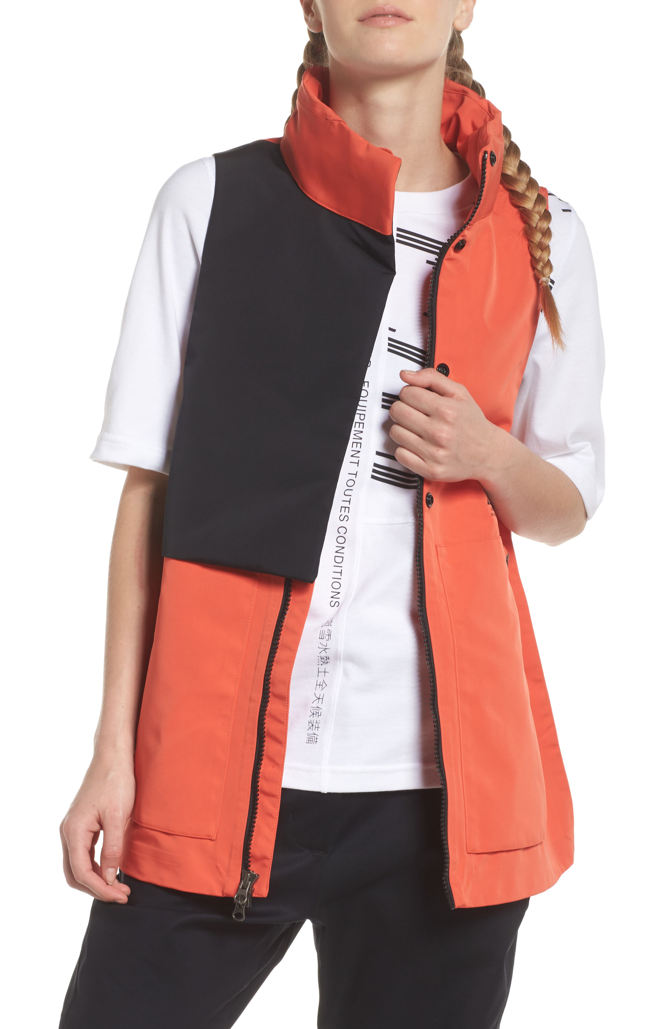 NikeLab ACG Water Repellent Women's Hooded Vest,                             Main thumbnail 1, color,                             Team Orange/ Team Orange