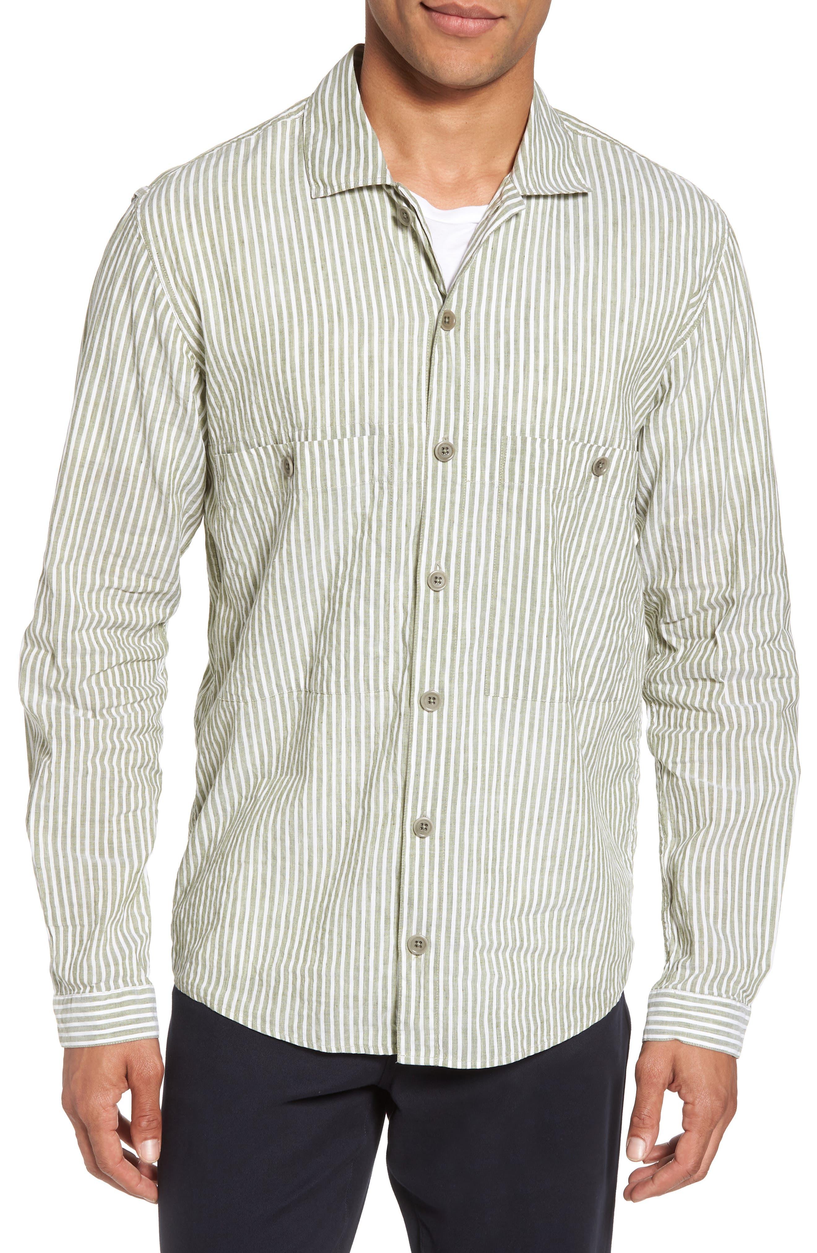 Alternate Image 1 Selected - YMC Doc Savage Regular Fit Sport Shirt