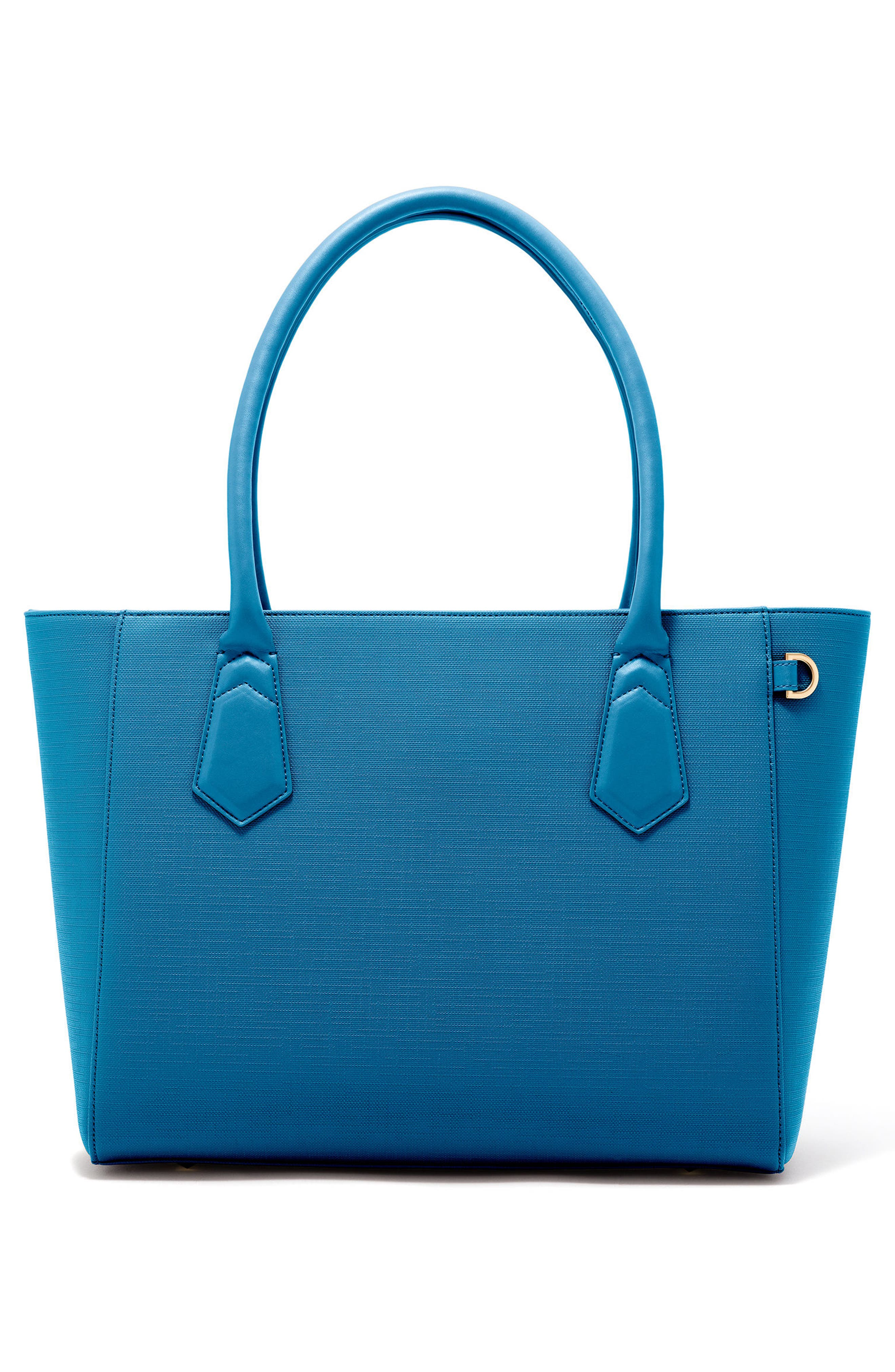 Signature Classic Coated Canvas Tote,                         Main,                         color, Pacific