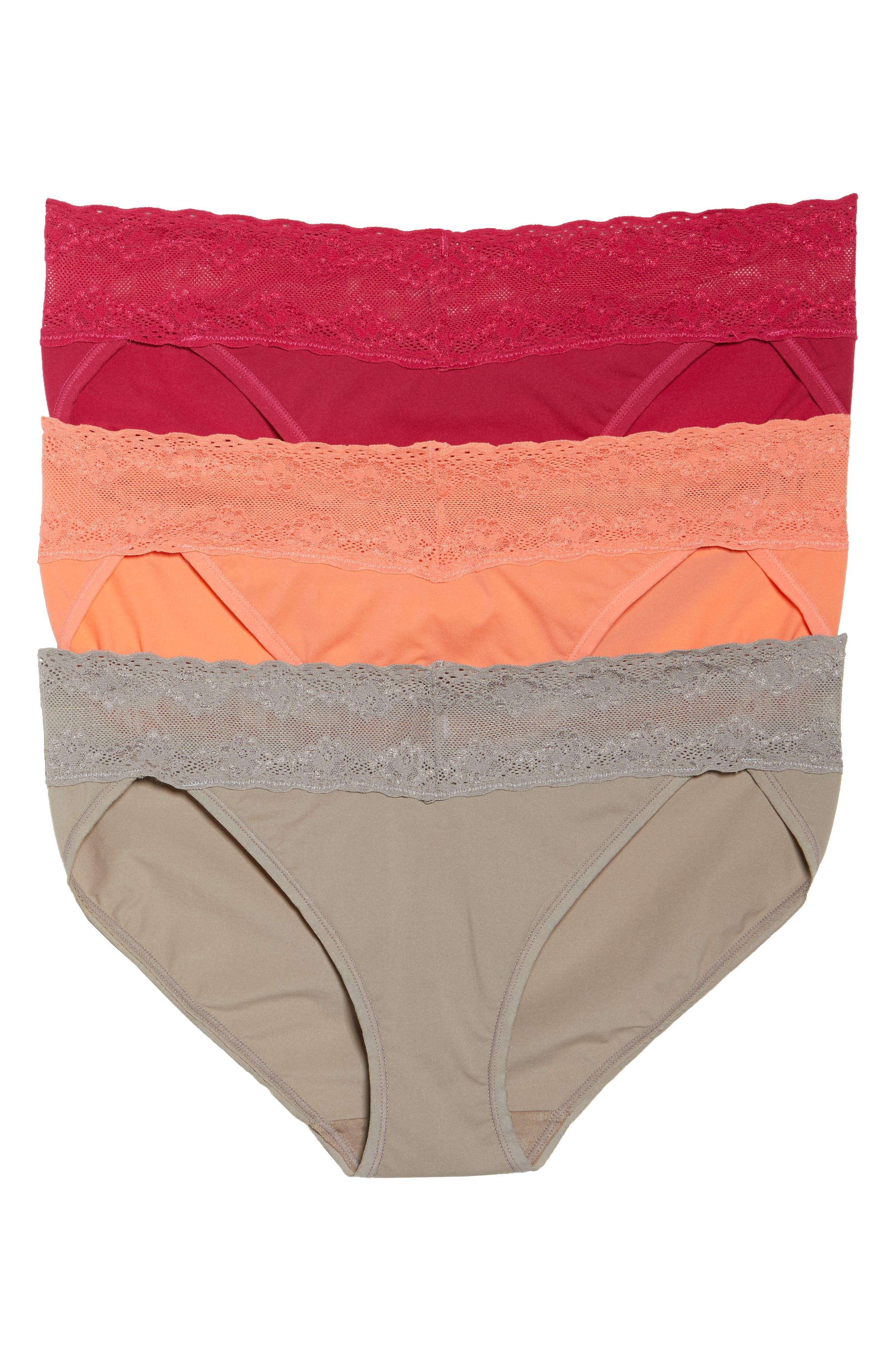 Main Image - Natori 'Bliss Perfection' Bikini Briefs (3-Pack)