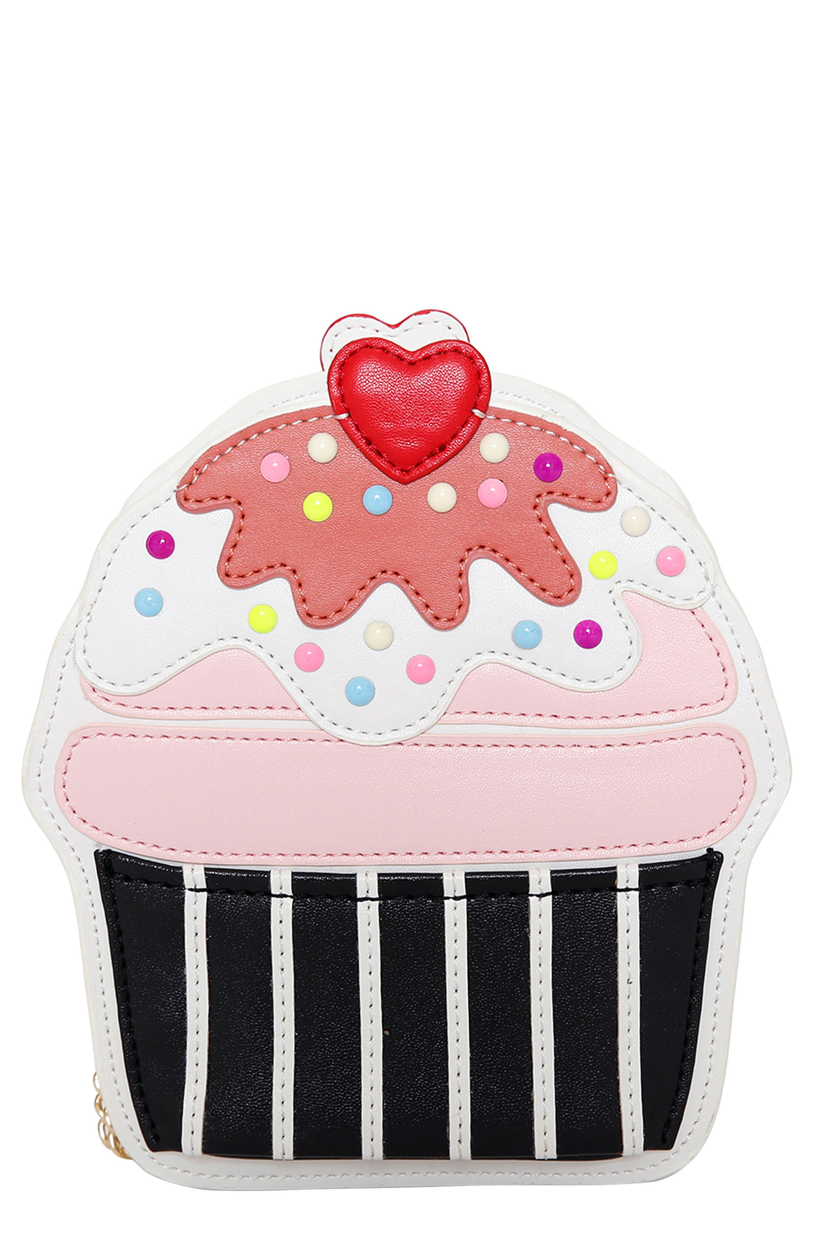 Cupcake Crossbody Bag,                             Main thumbnail 1, color,                             White Multi