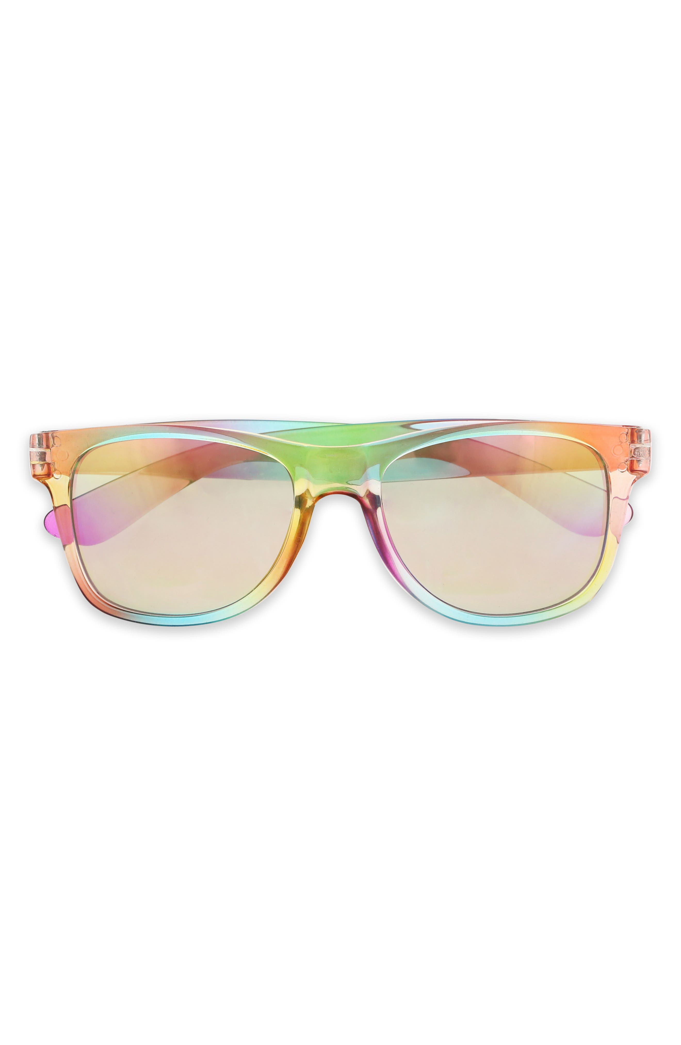60mm Mirrored Sunglasses,                             Main thumbnail 1, color,                             Multi