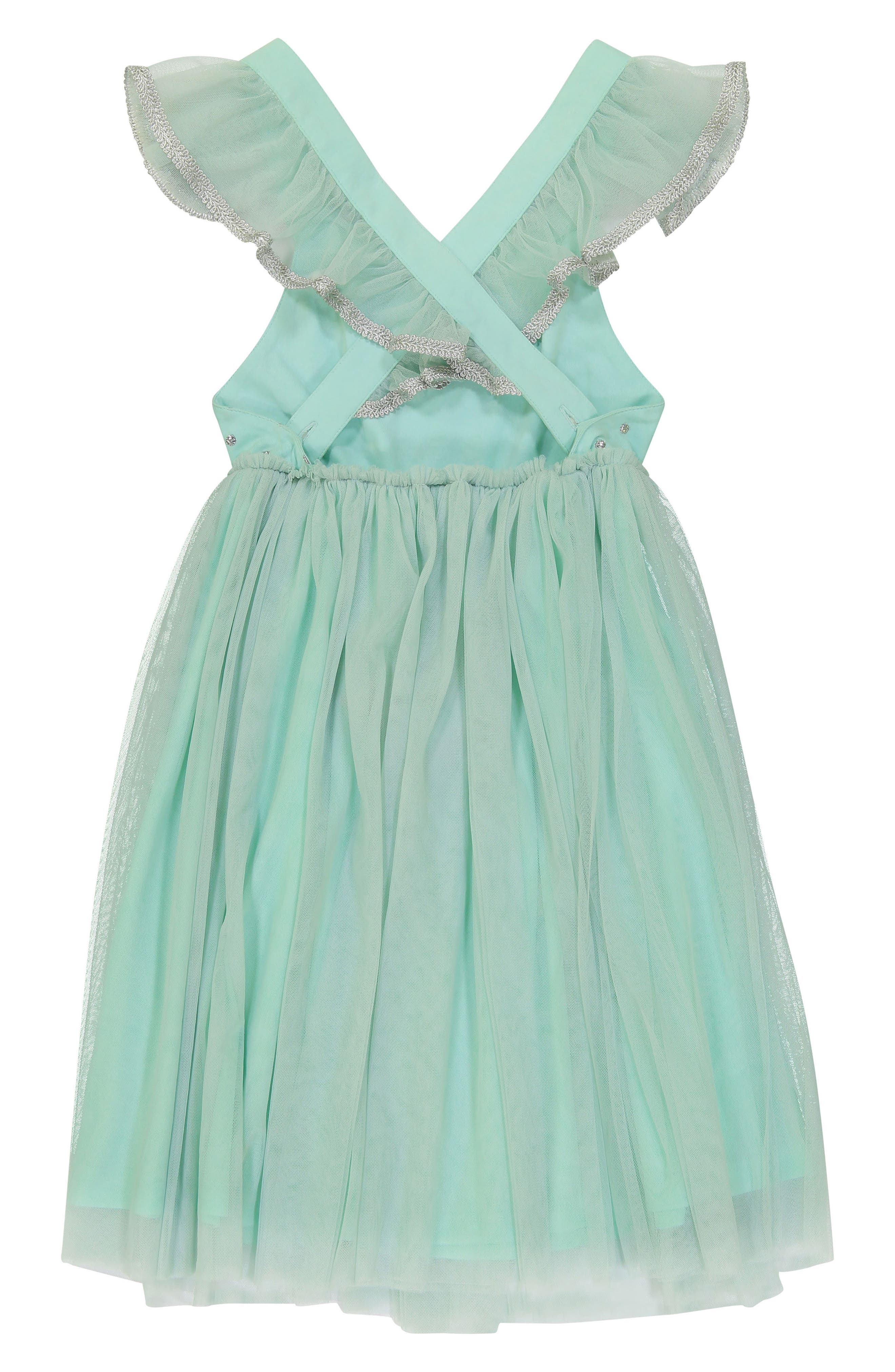 Diya Tulle Sundress,                             Alternate thumbnail 2, color,                             Turquoise