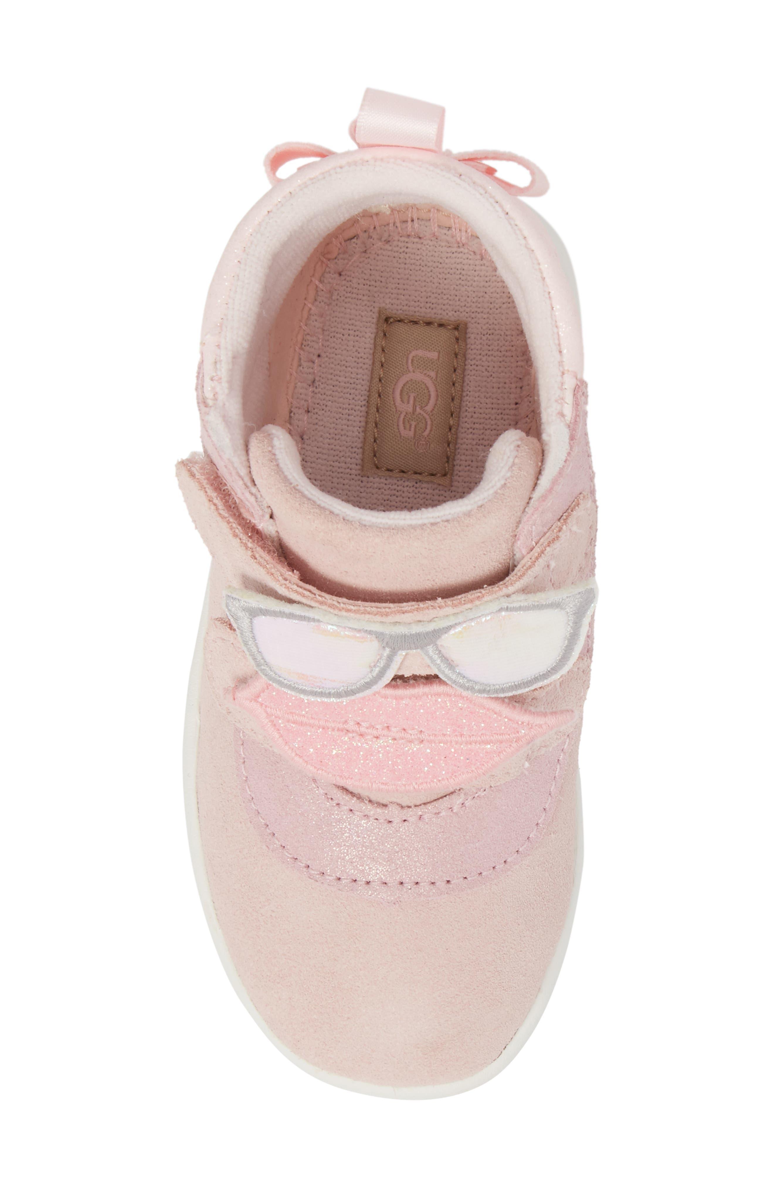Livv Sunglass Appliqué Sneaker,                             Alternate thumbnail 5, color,                             Seashell Pink