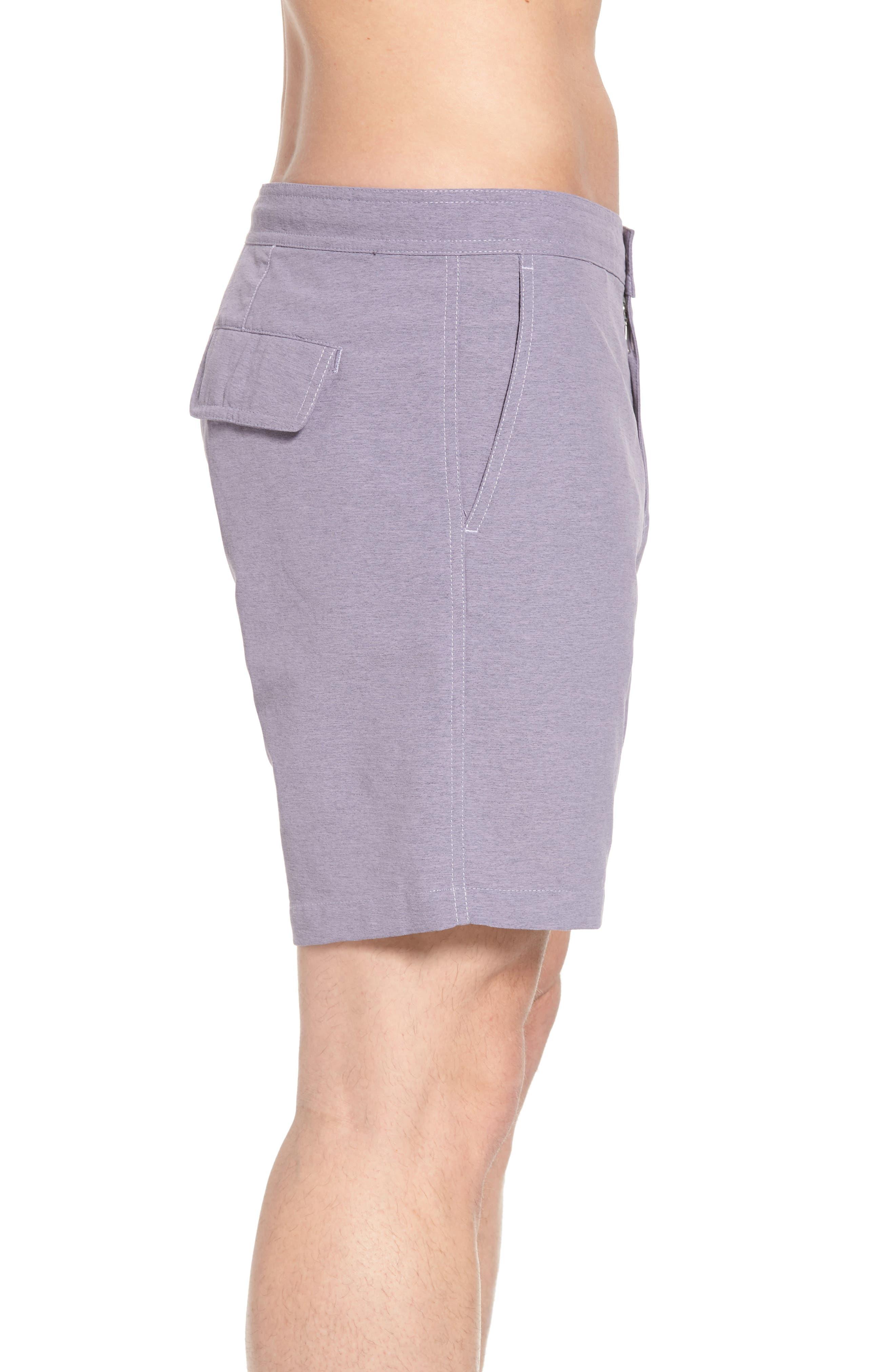 Bond Hybrid Shorts,                             Alternate thumbnail 3, color,                             Venice Purple