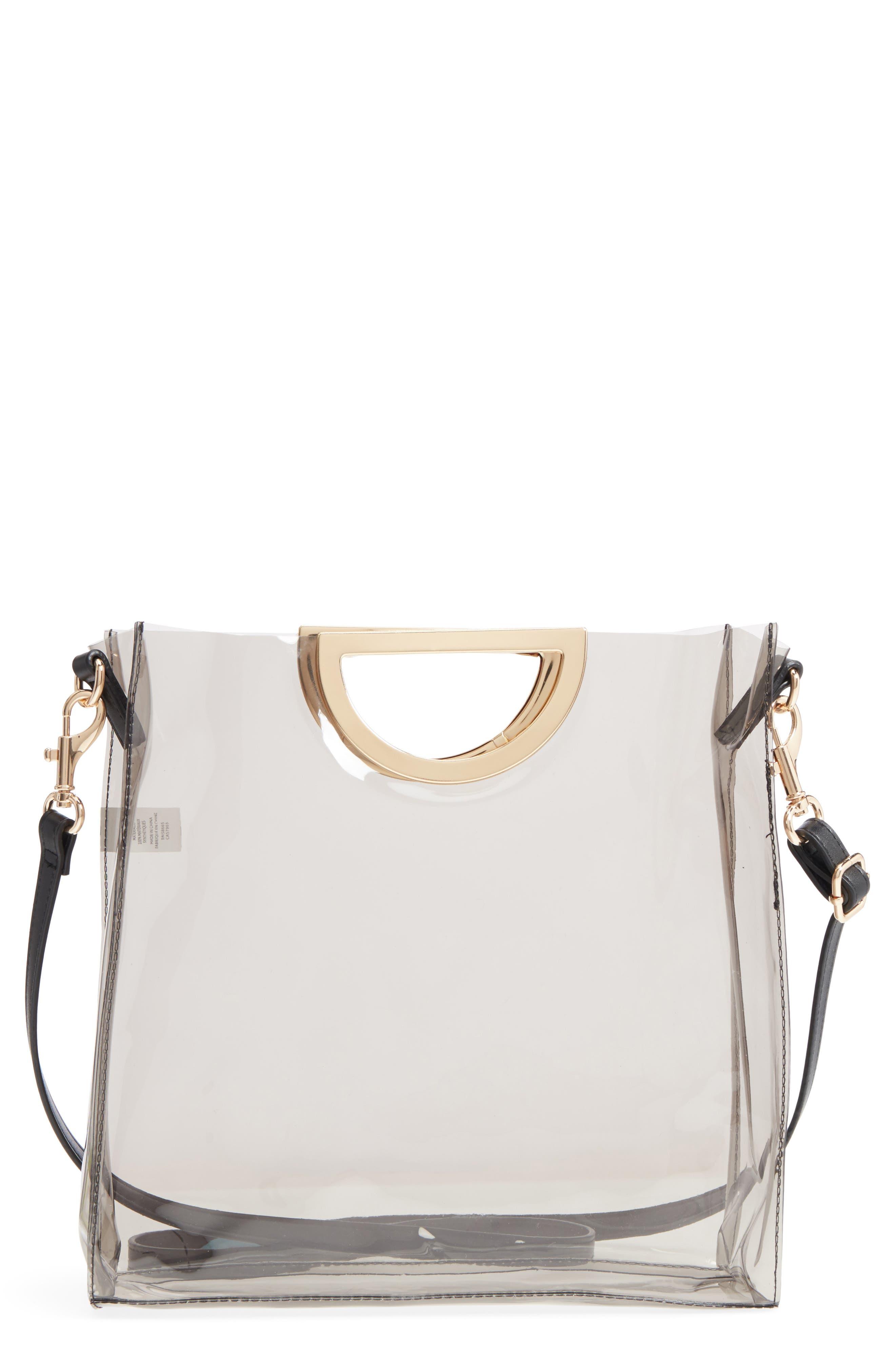 Main Image - BP. Mini Translucent Metal Handle Bag