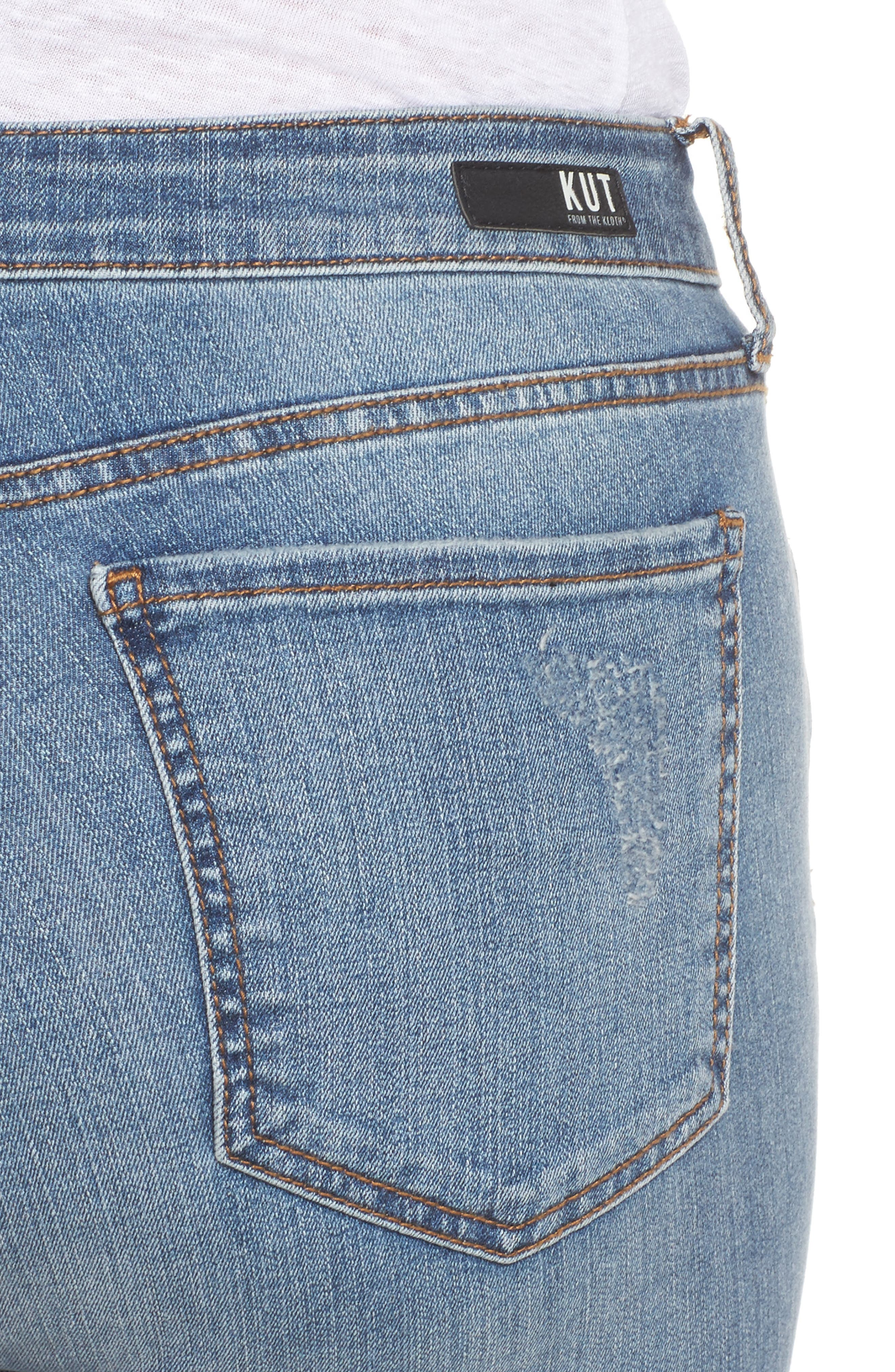 Donna High Waist Ankle Skinny Jeans,                             Alternate thumbnail 4, color,                             Galvanized W/ Me