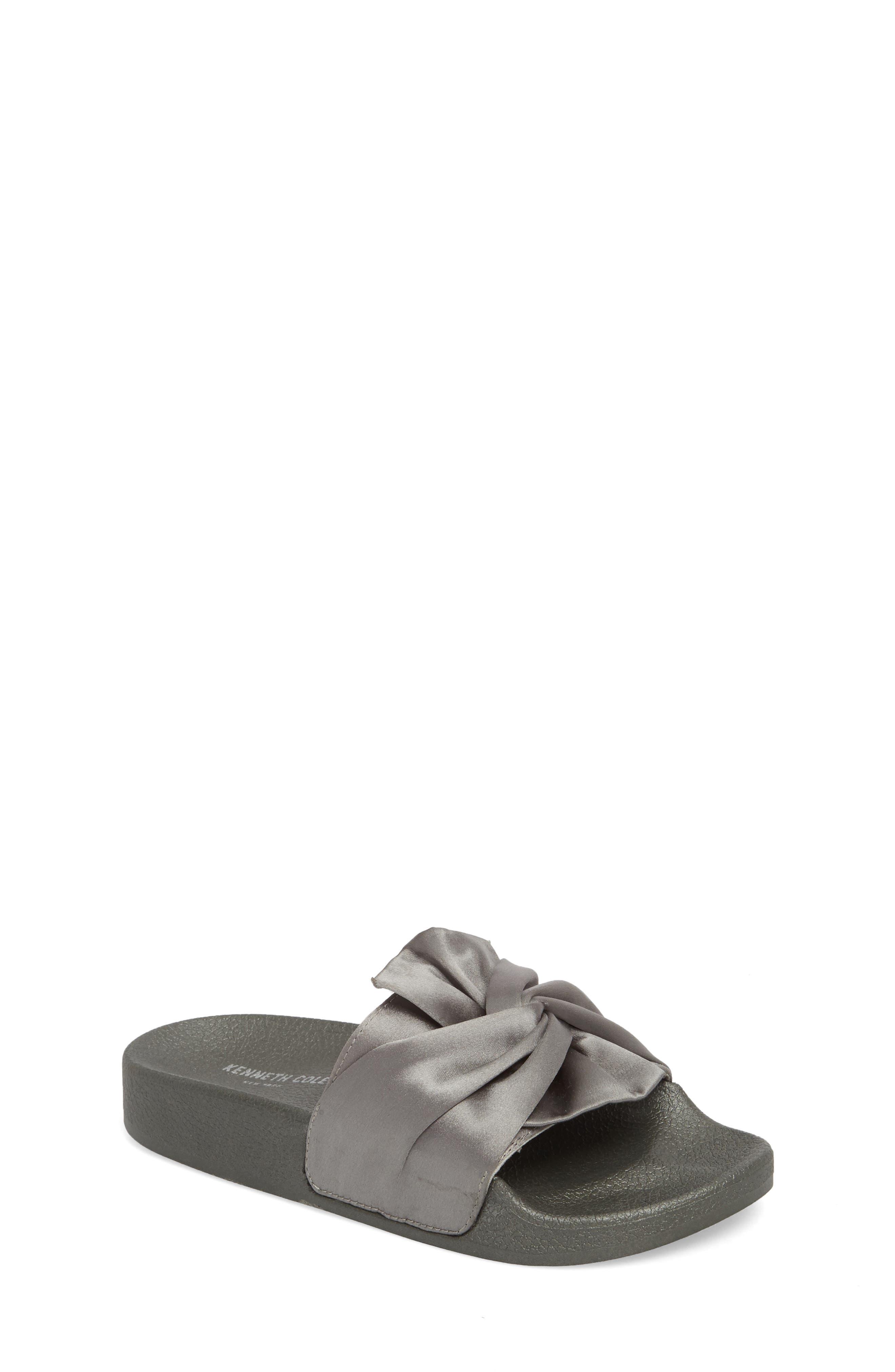 Shower Twist Slide Sandal,                             Main thumbnail 1, color,                             Gray