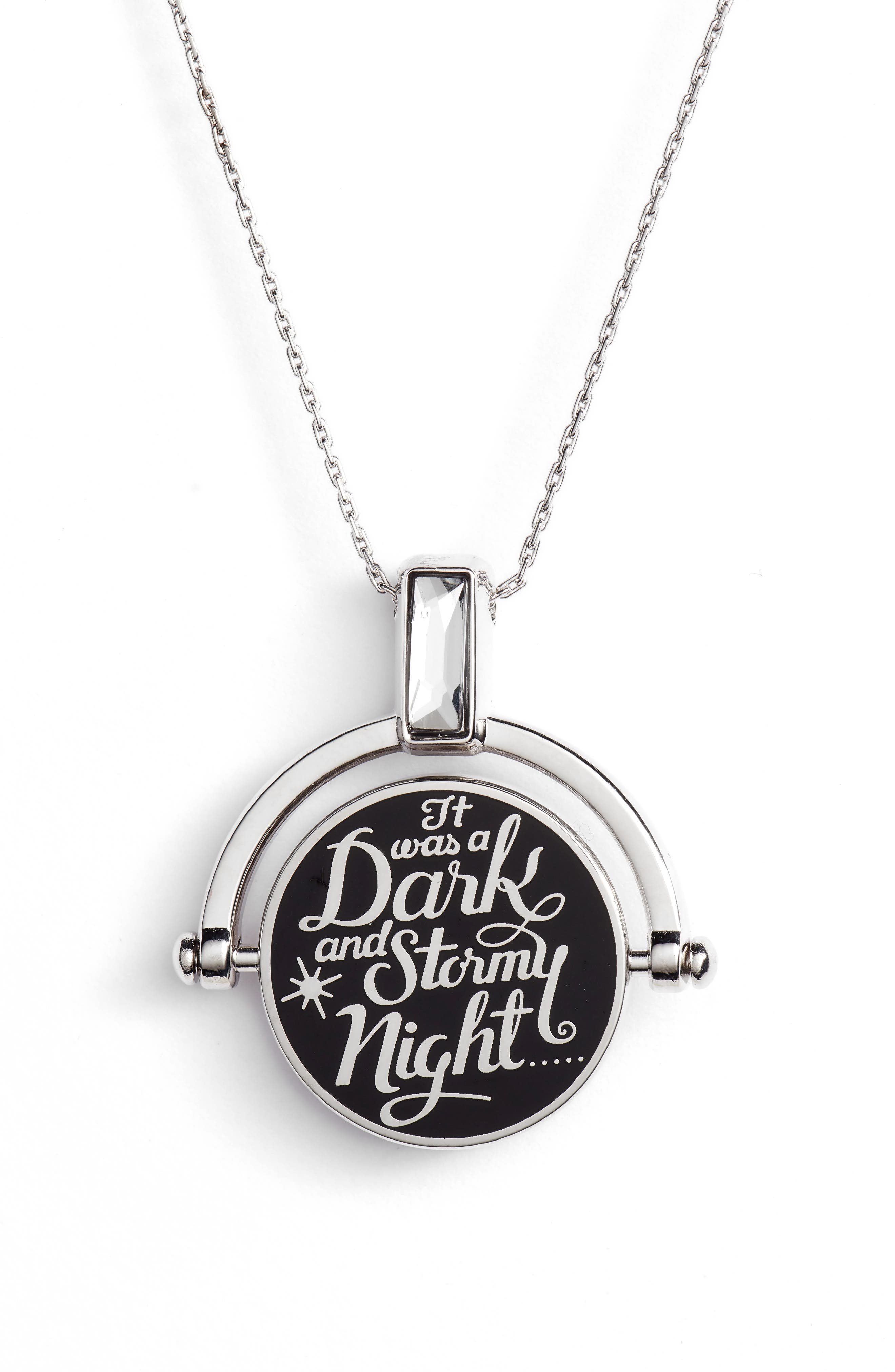 Alex and Ani x Disney® 'A Wrinkle in Time' Dark & Stormy Night Spinner Expandable Necklace