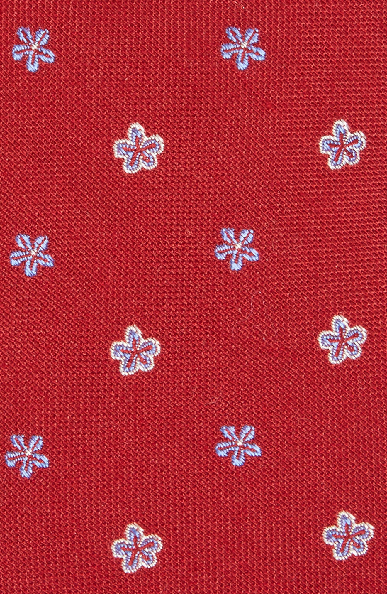 Essex Floral Silk Blend Tie,                             Alternate thumbnail 2, color,                             Burgundy