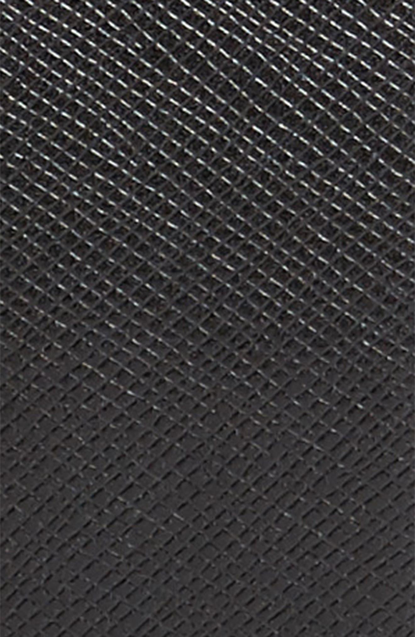 Celie Saffiano Leather Belt,                             Alternate thumbnail 2, color,                             Black