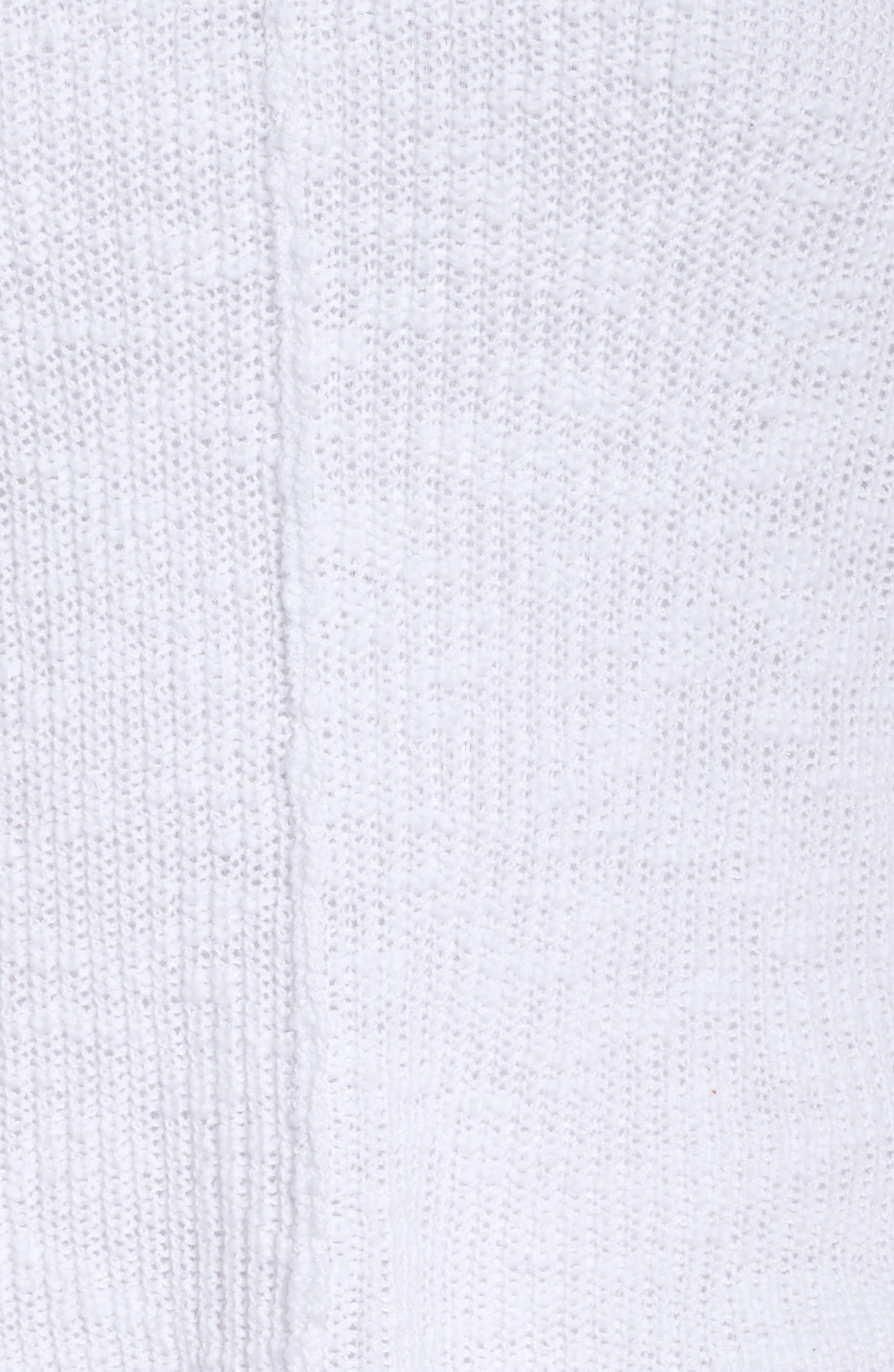 Hidden Snap V-Neck Sweater,                             Alternate thumbnail 6, color,                             White