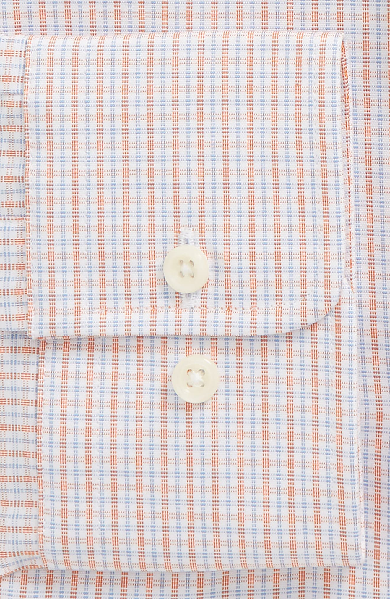Regular Fit Check Dress Shirt,                             Alternate thumbnail 2, color,                             Melon