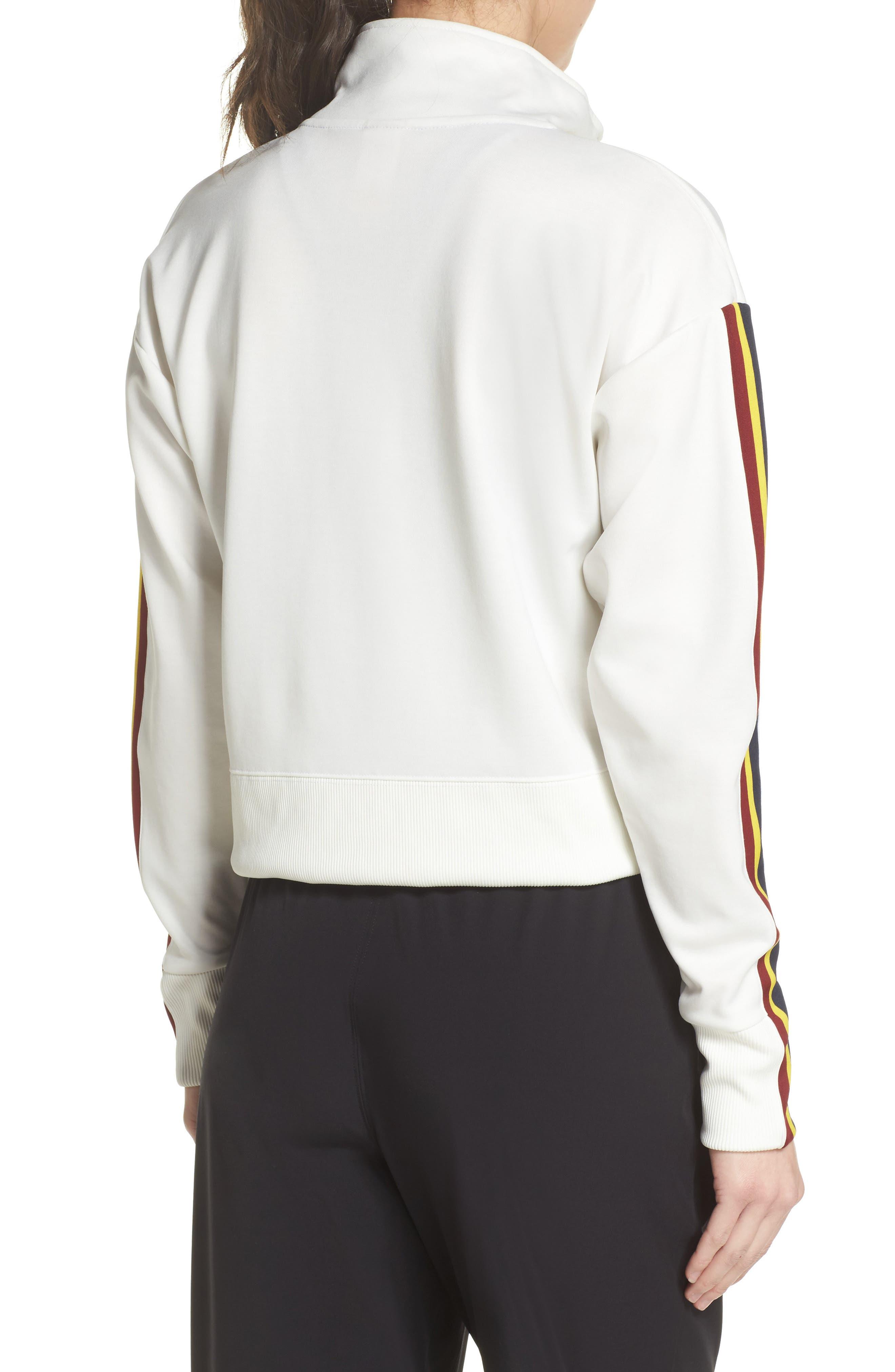Sportswear Crop Jacket,                             Alternate thumbnail 2, color,                             Sail/ Team Red