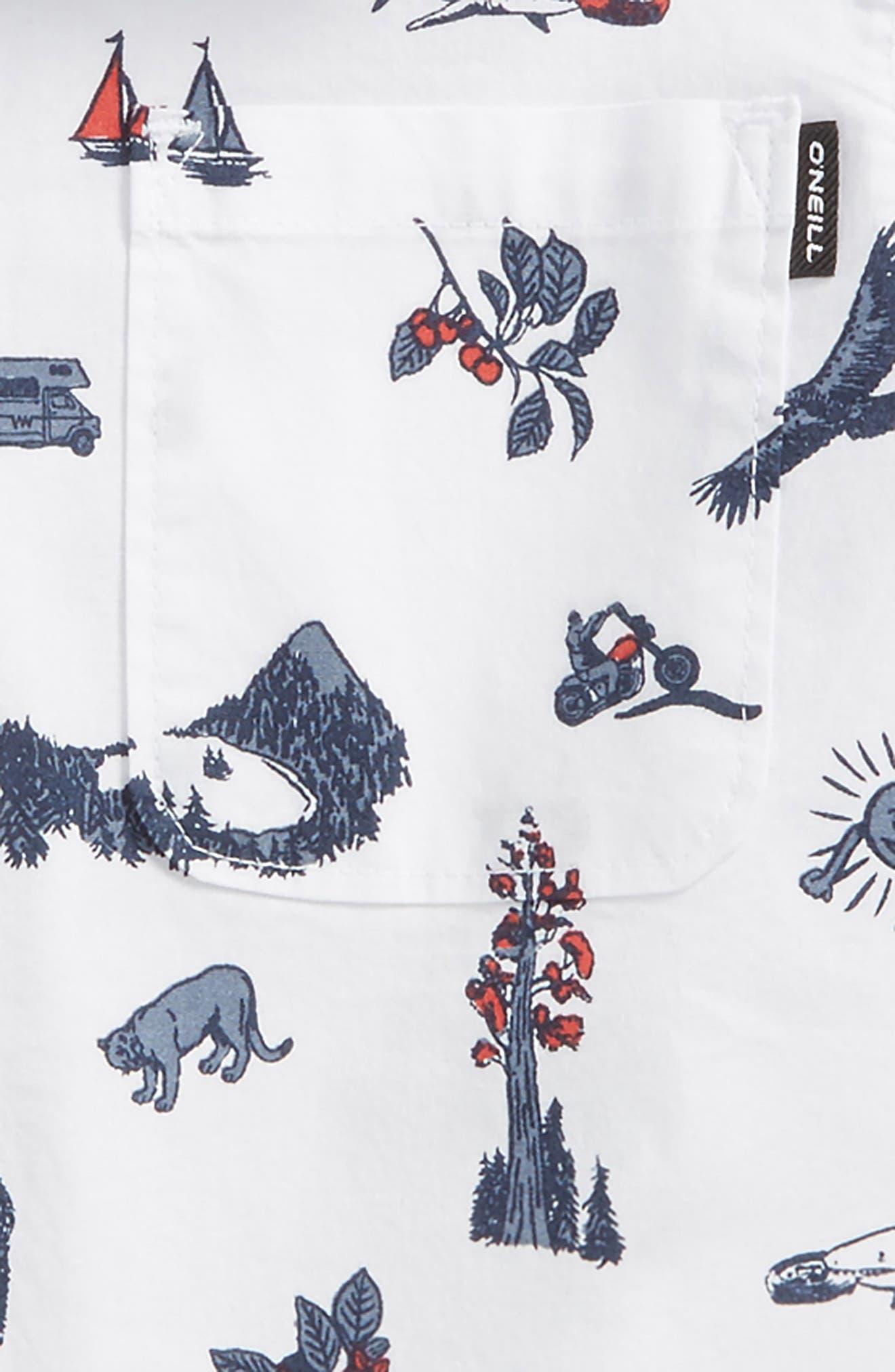 Squawker Woven Shirt,                             Alternate thumbnail 2, color,                             White