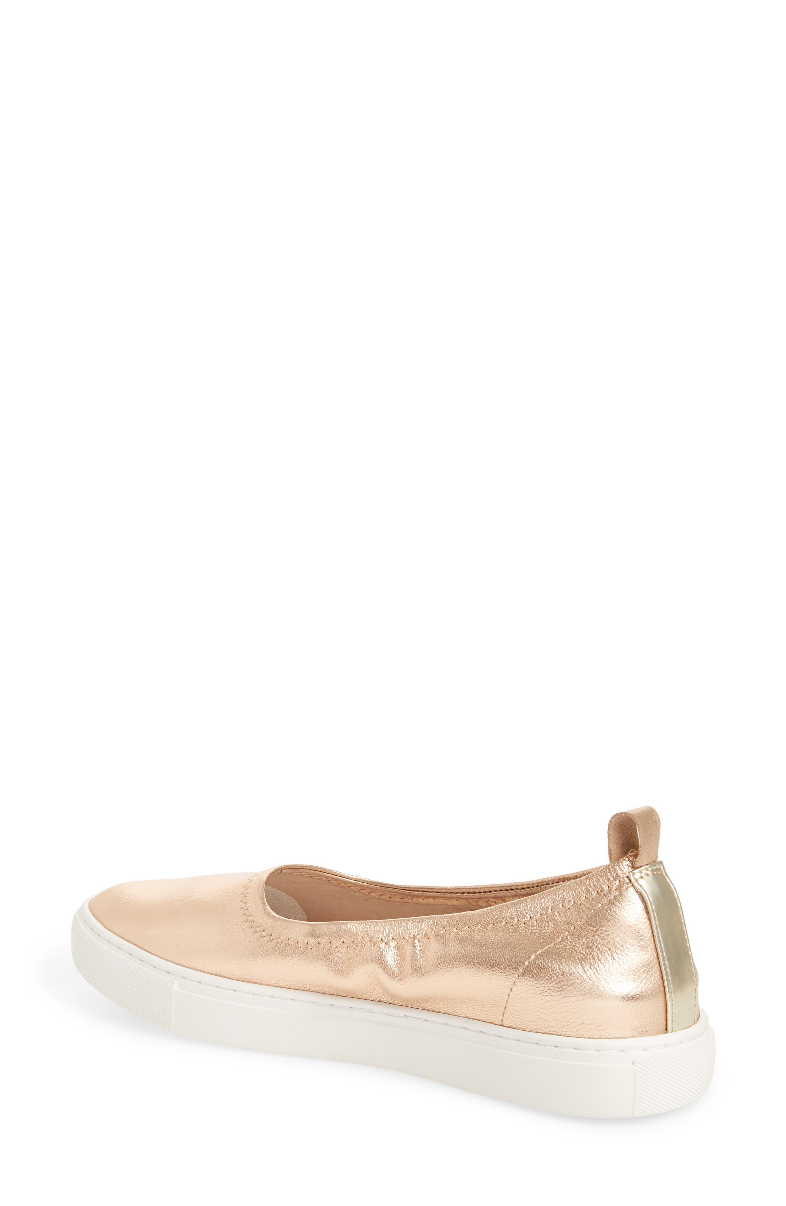 Kam Techni-Cole Ballet Flat,                             Alternate thumbnail 2, color,                             Rose Gold Leather