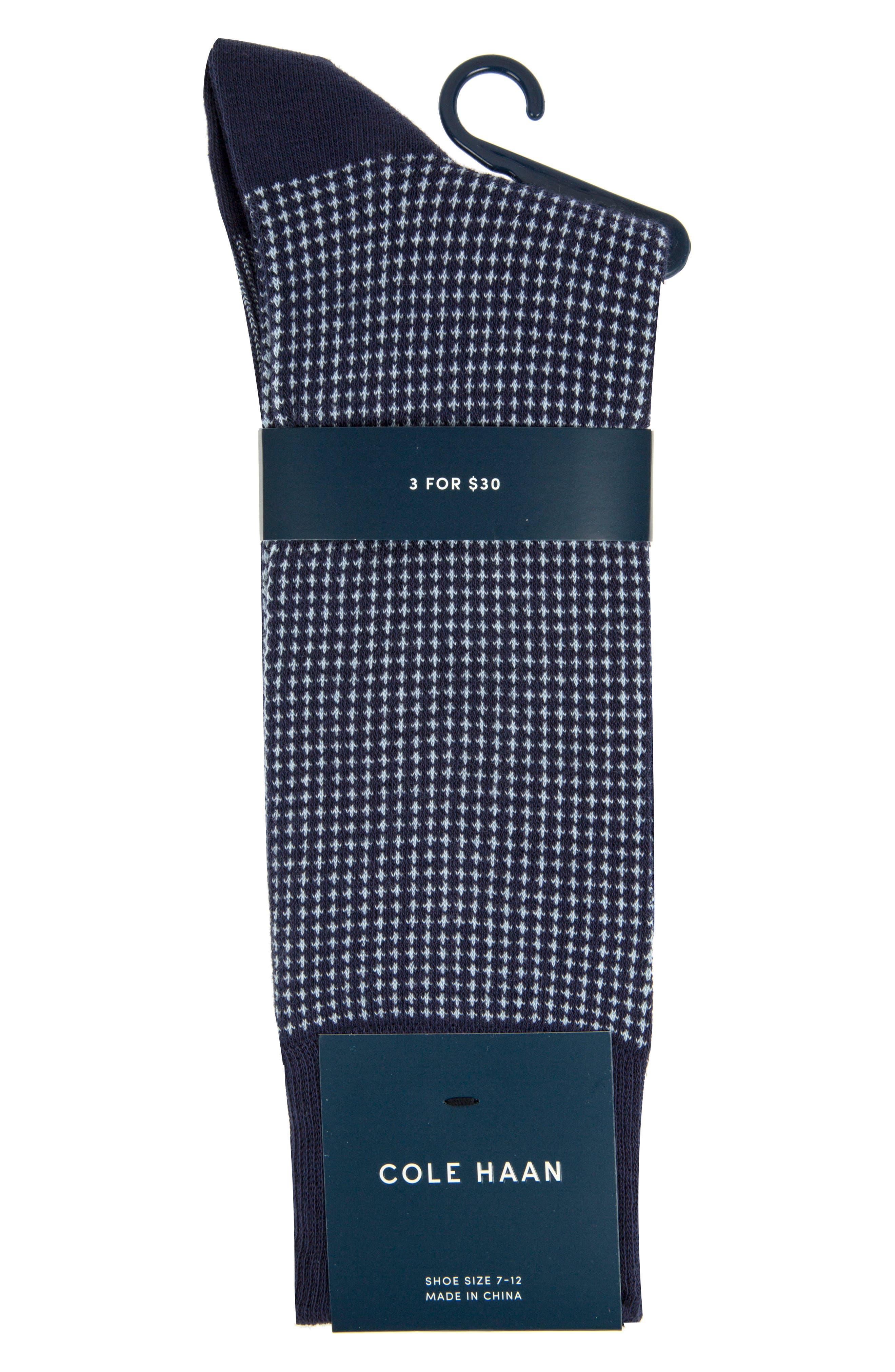 Check Socks,                             Alternate thumbnail 2, color,                             Marine Blue