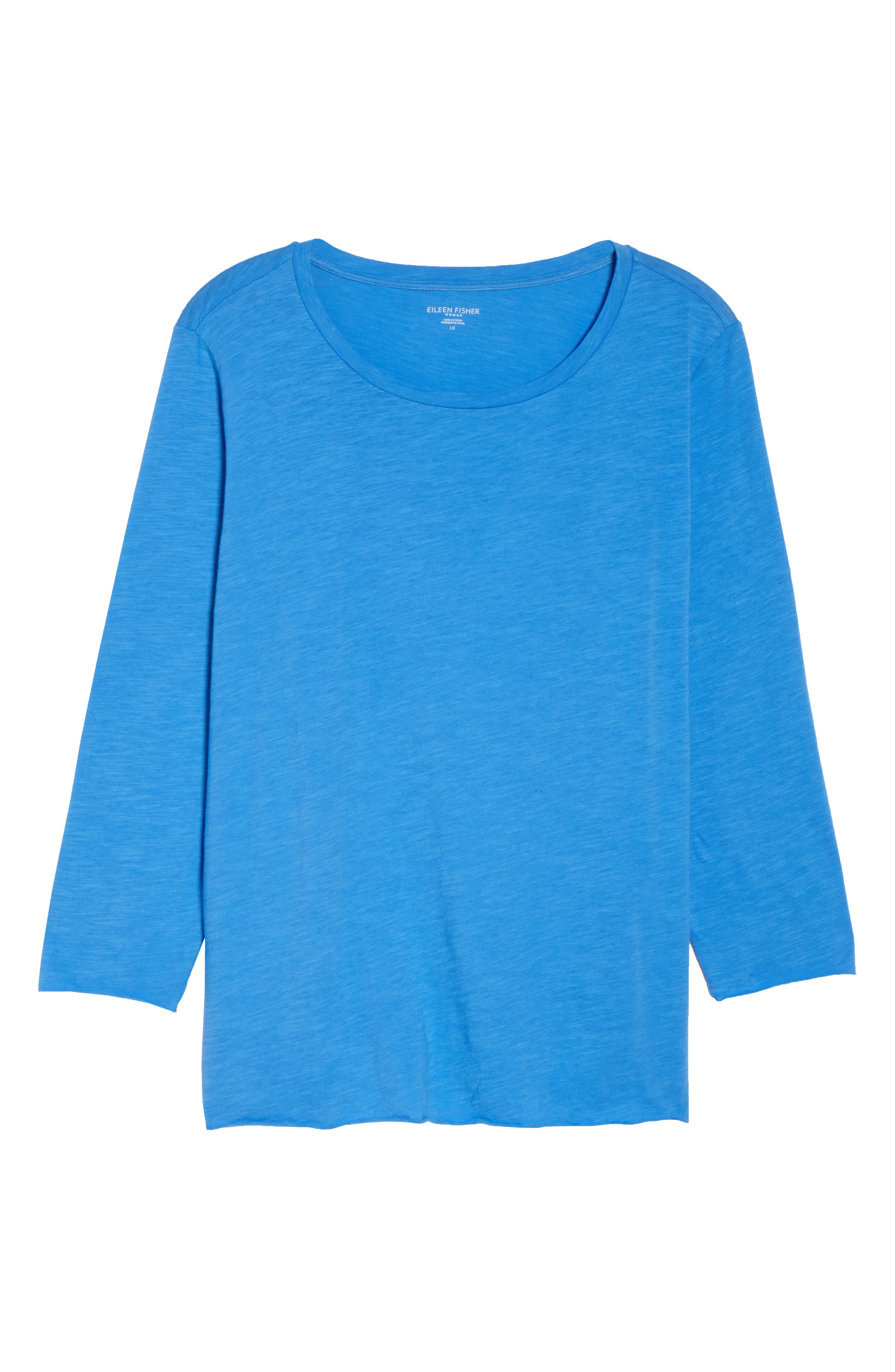 Round Neck Tunic,                             Alternate thumbnail 7, color,                             Blue Bell