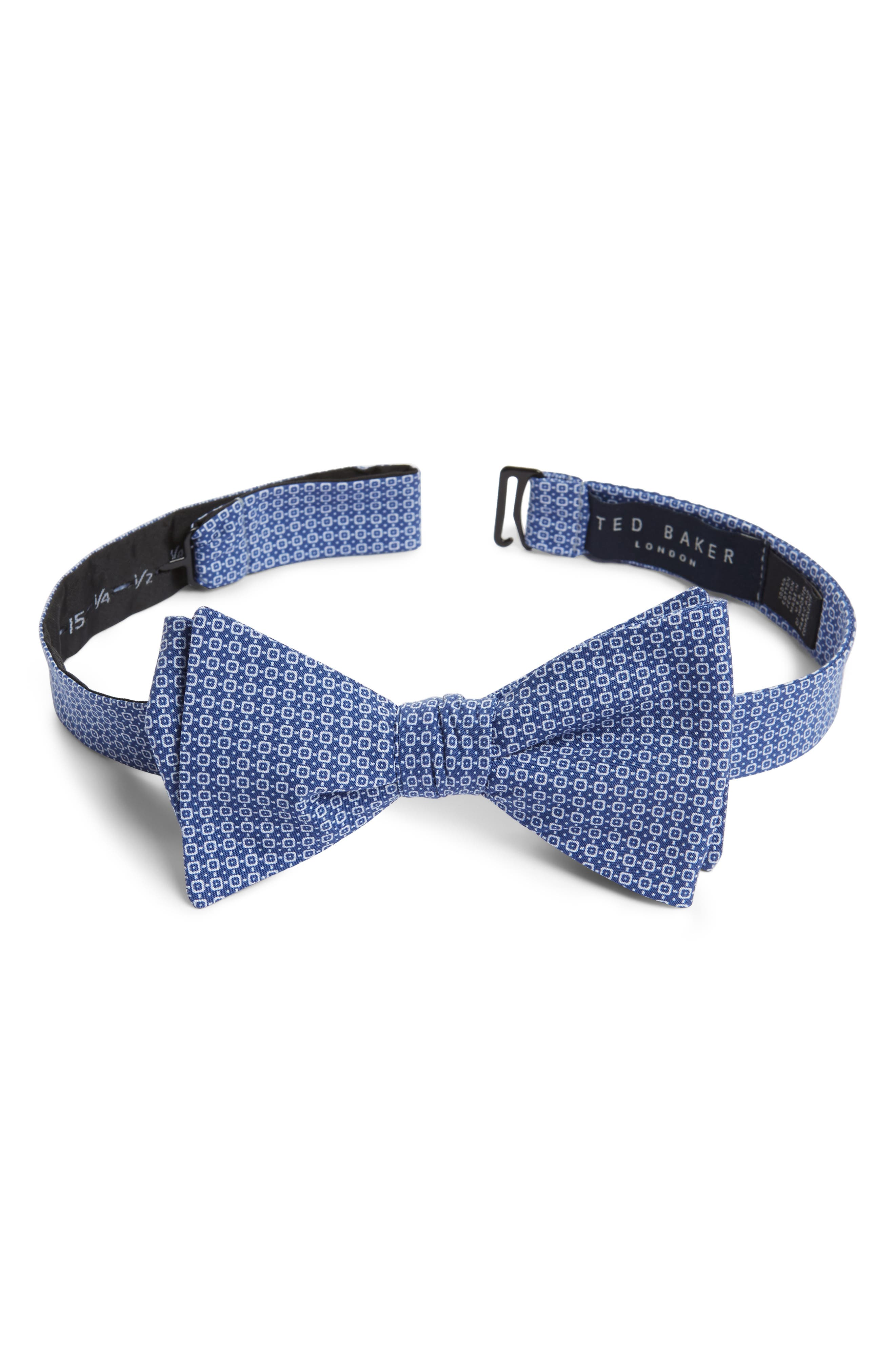 Ted Baker London Geometric Cotton Bow Tie