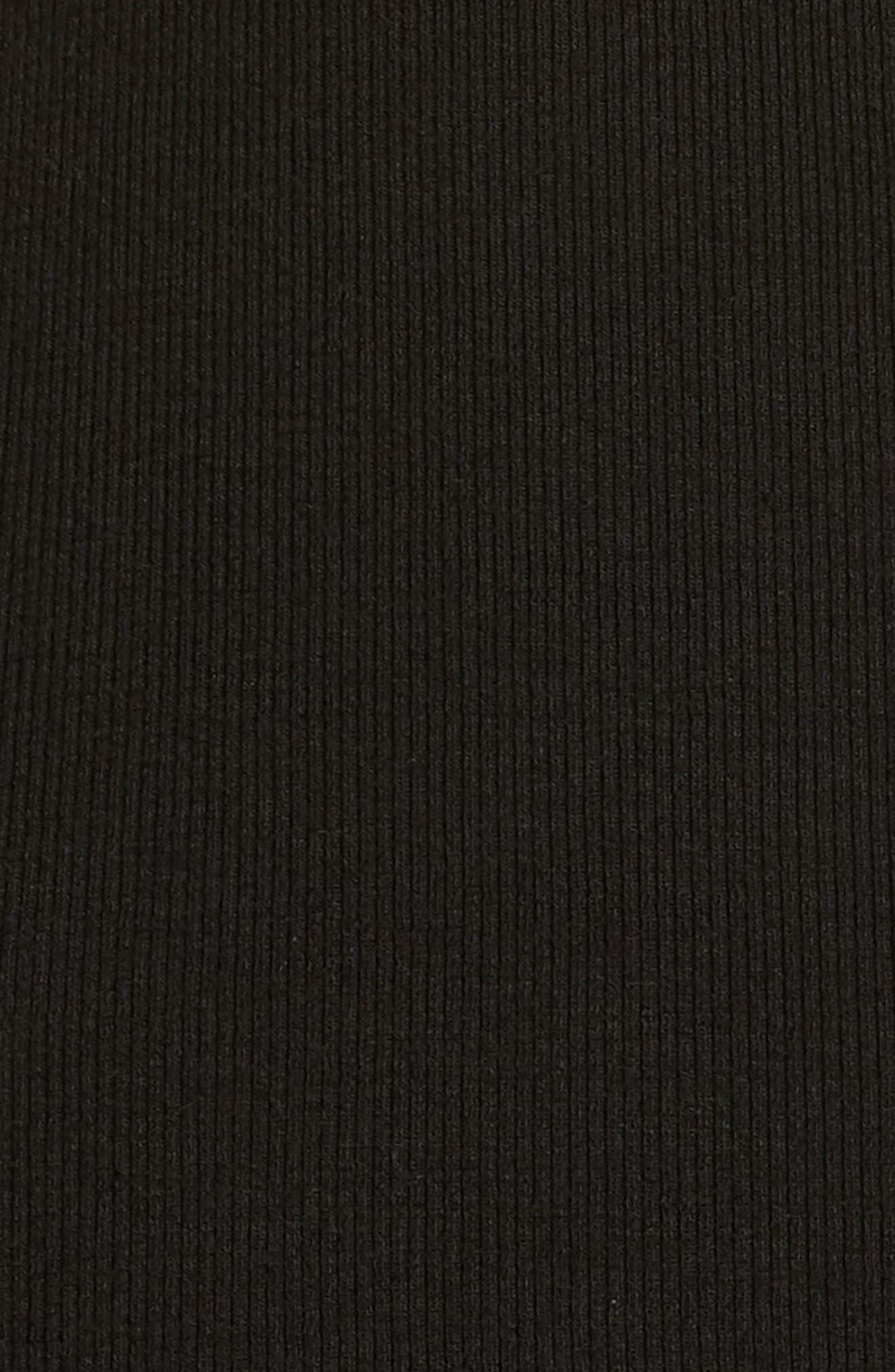 Ribbed Halter Tank,                             Alternate thumbnail 6, color,                             Black