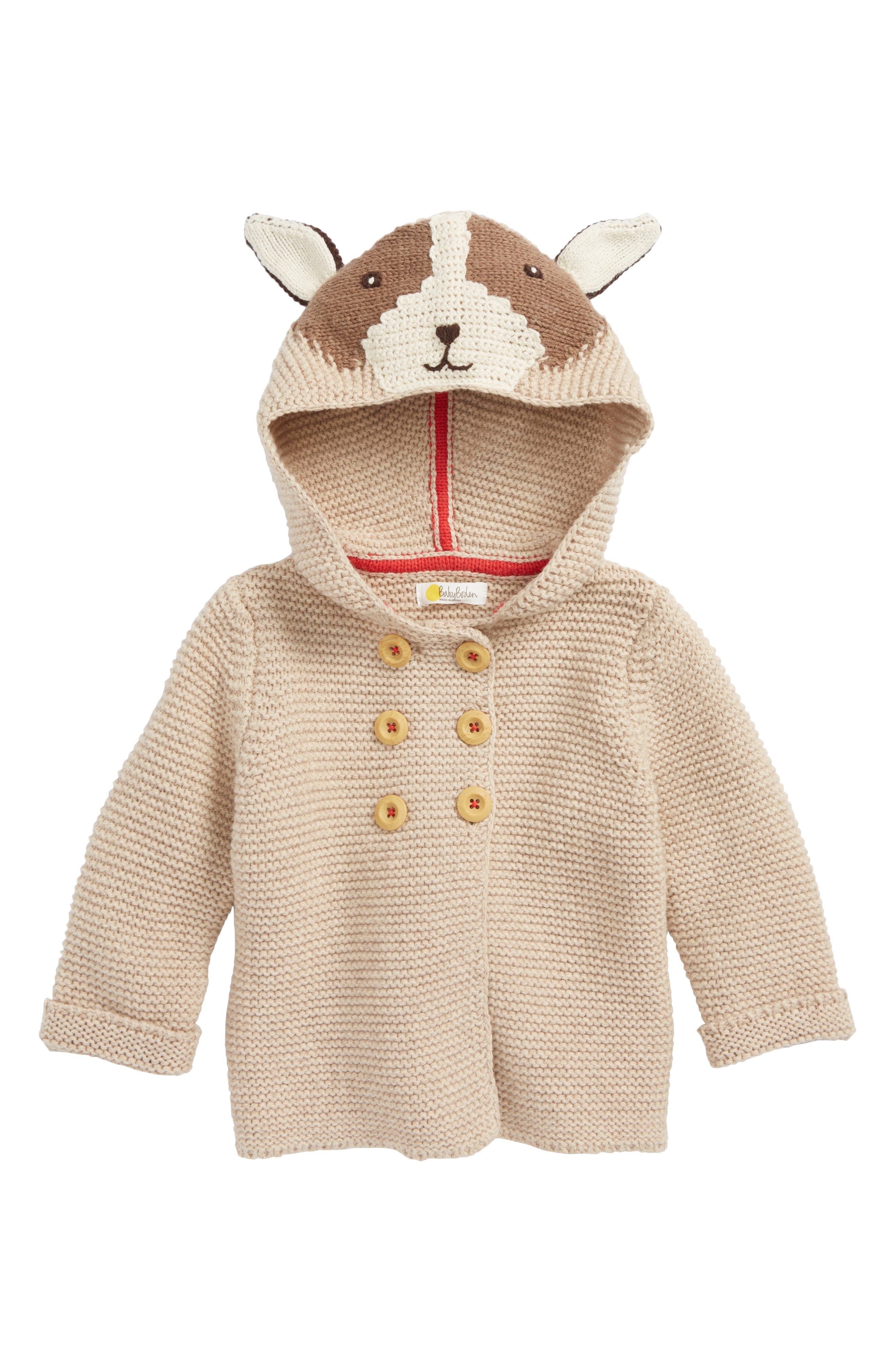 Mini Boden Knitted Critter Jacket (Baby & Toddler)