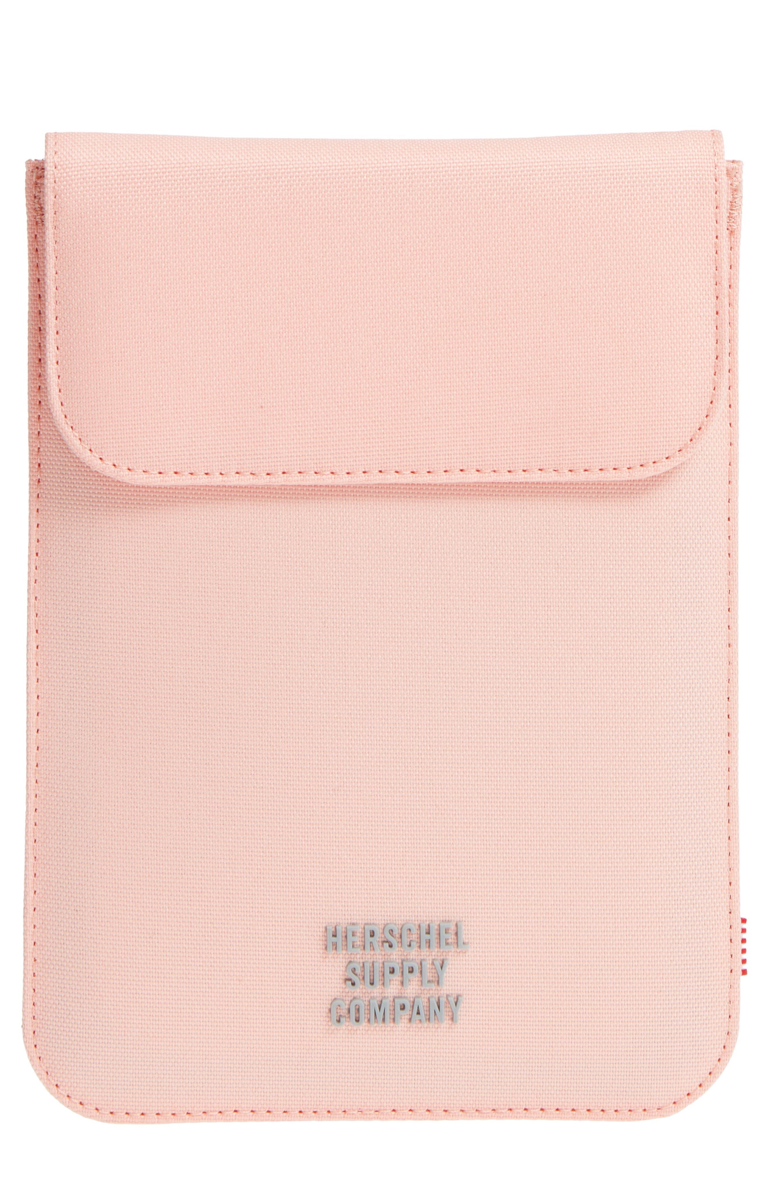 Spokane iPad Mini Canvas Sleeve,                             Main thumbnail 1, color,                             Peach