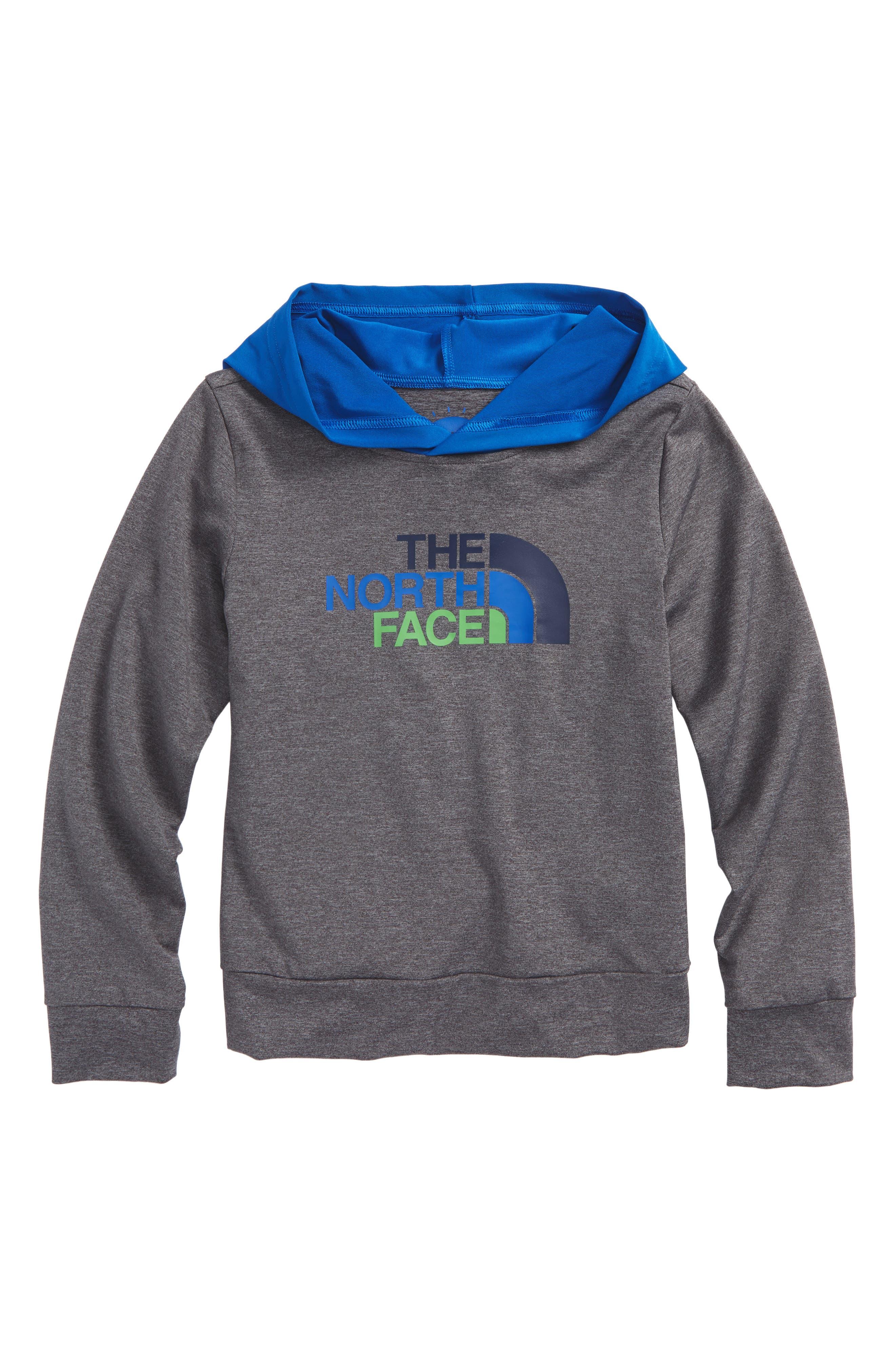 Hooded Hike/Water T-Shirt,                             Main thumbnail 1, color,                             Medium Grey Heather