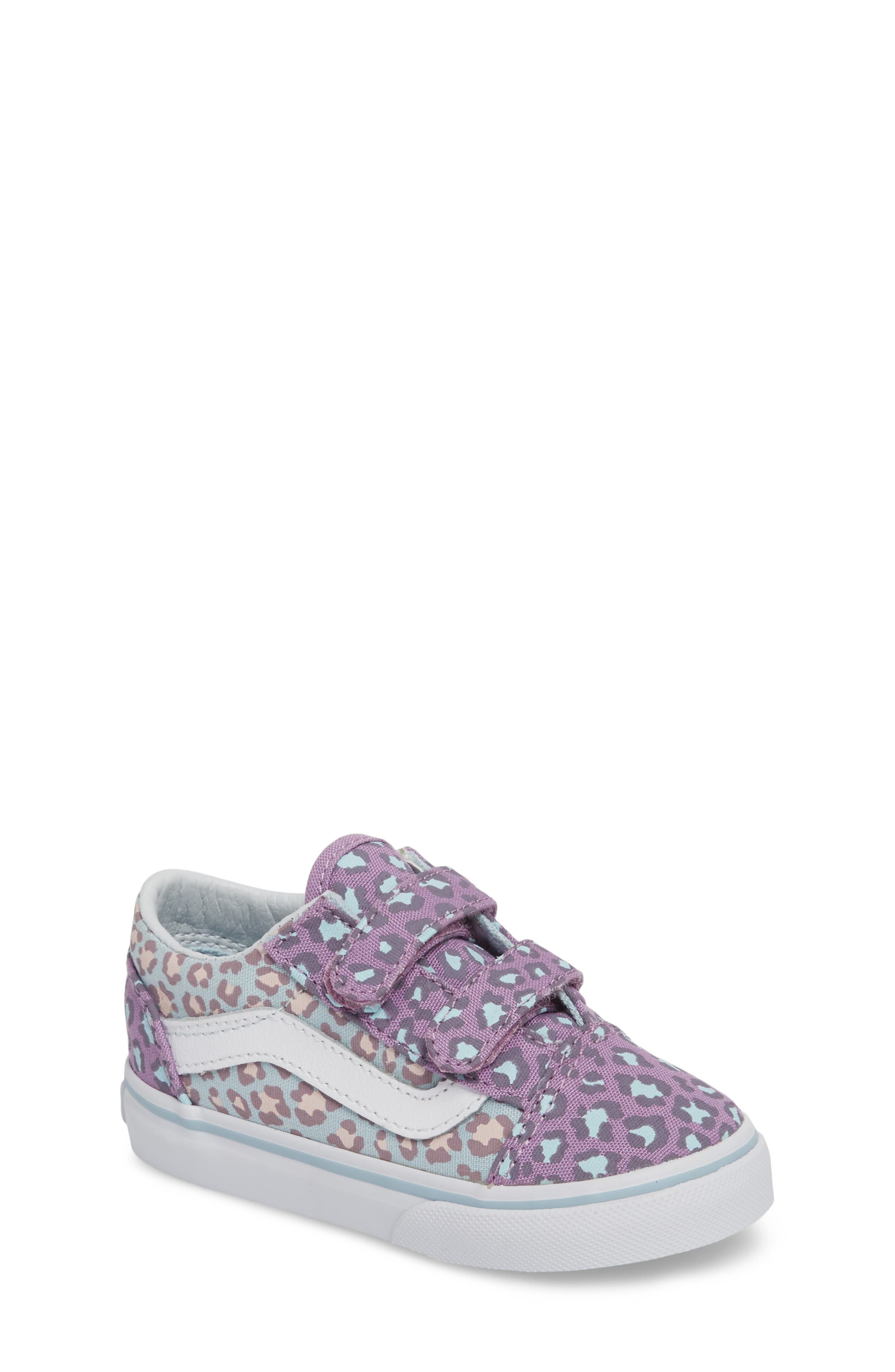 'Old Skool V' Sneaker,                         Main,                         color, Blue/ Orchid Leopard