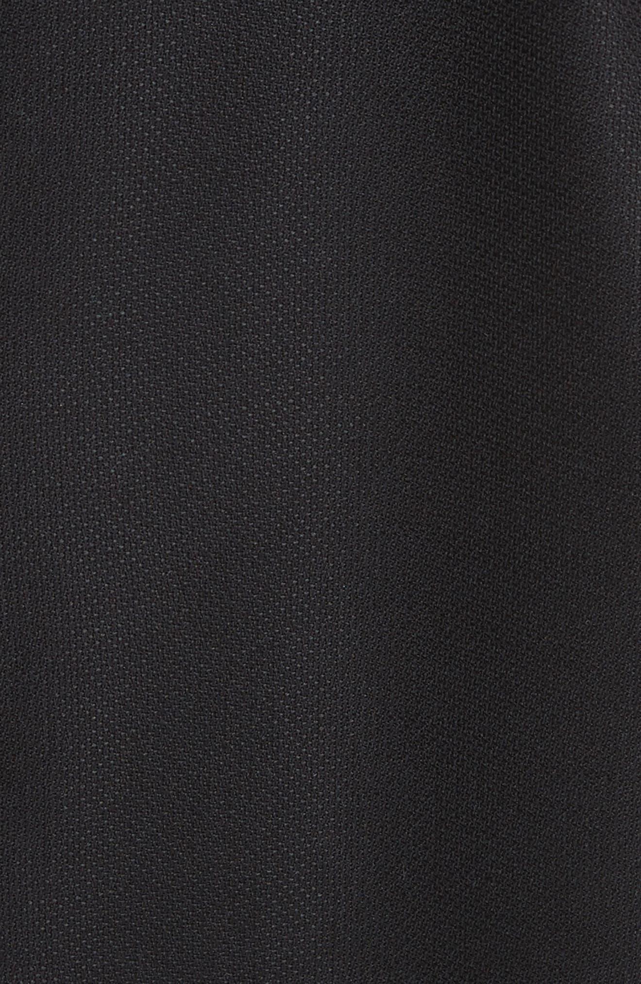 La Jupe Ilha Wool Midi Skirt,                             Alternate thumbnail 5, color,                             Black