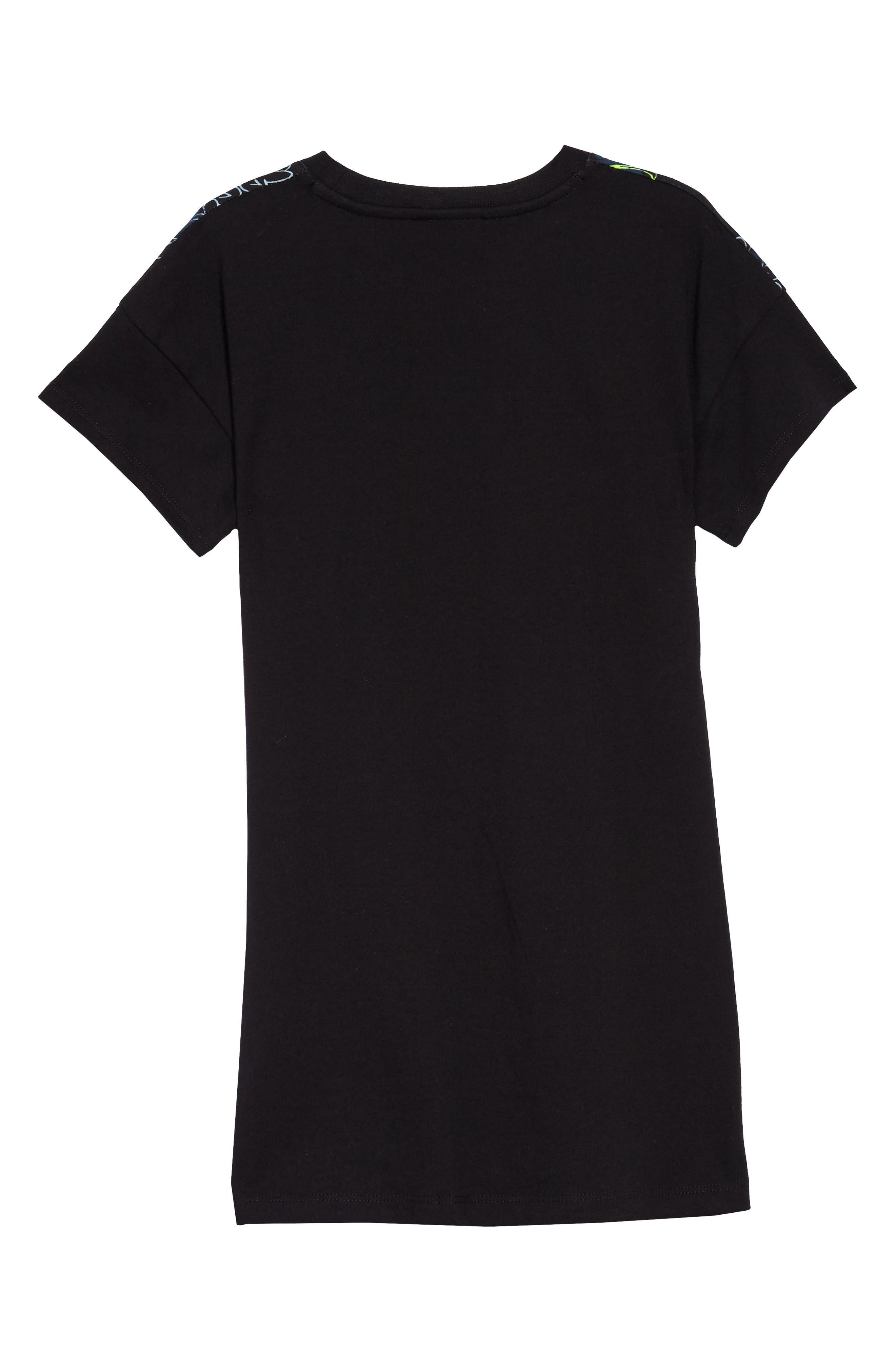 Sportswear Graphic T-Shirt Dress,                             Alternate thumbnail 2, color,                             Black