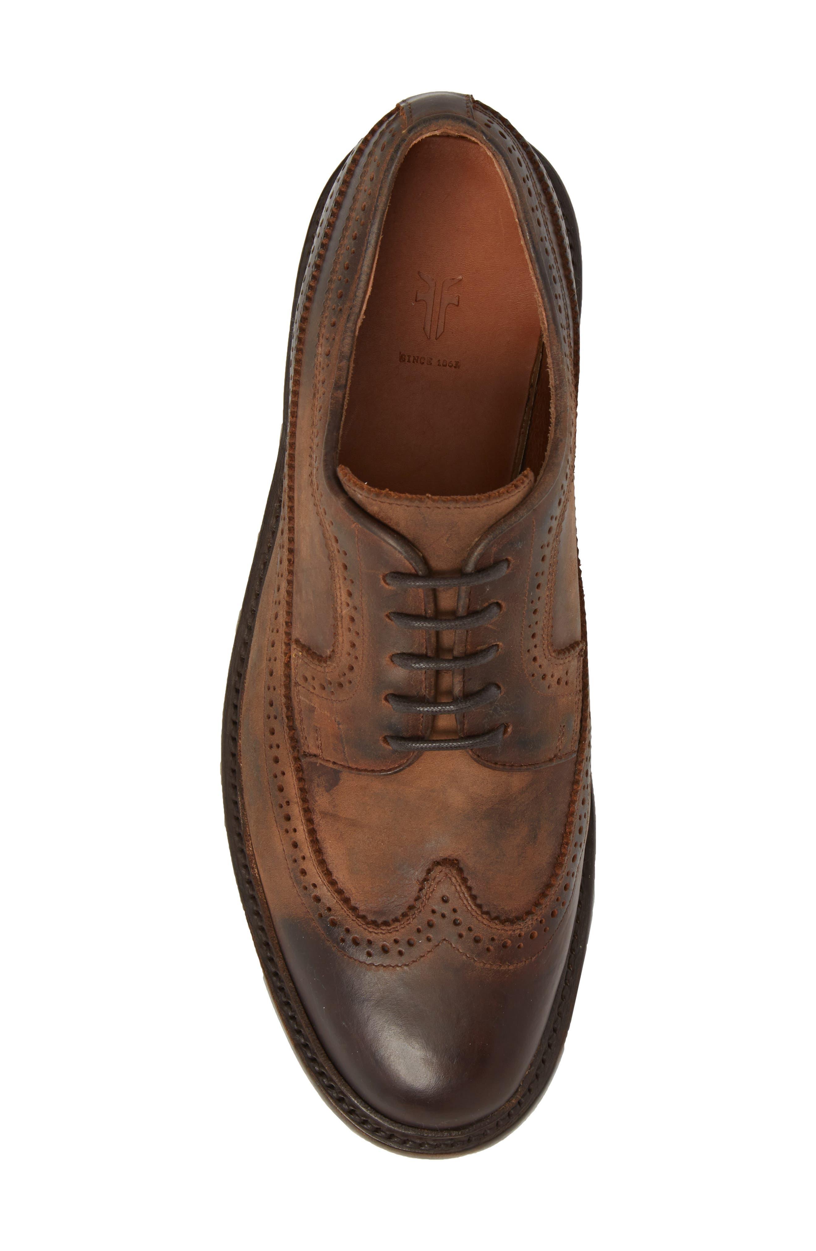 Jones Wingtip,                             Alternate thumbnail 5, color,                             Redwood Leather