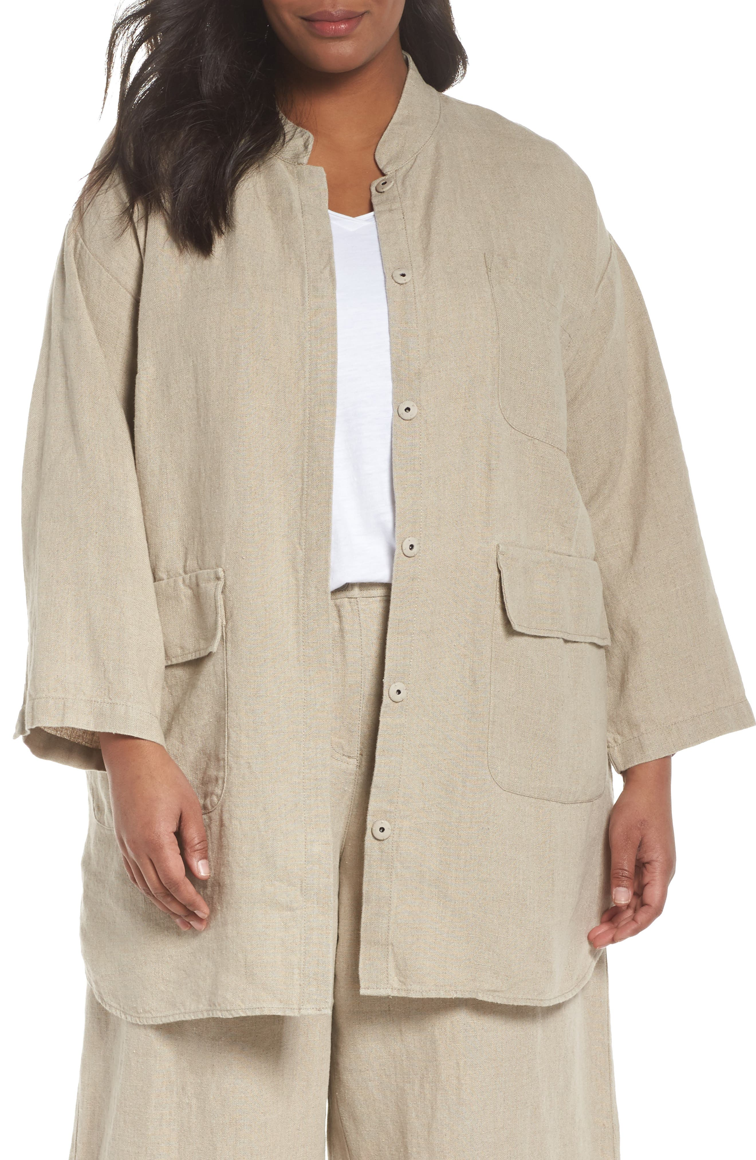 Eileen Fisher Organic Linen Jacket (Plus Size)
