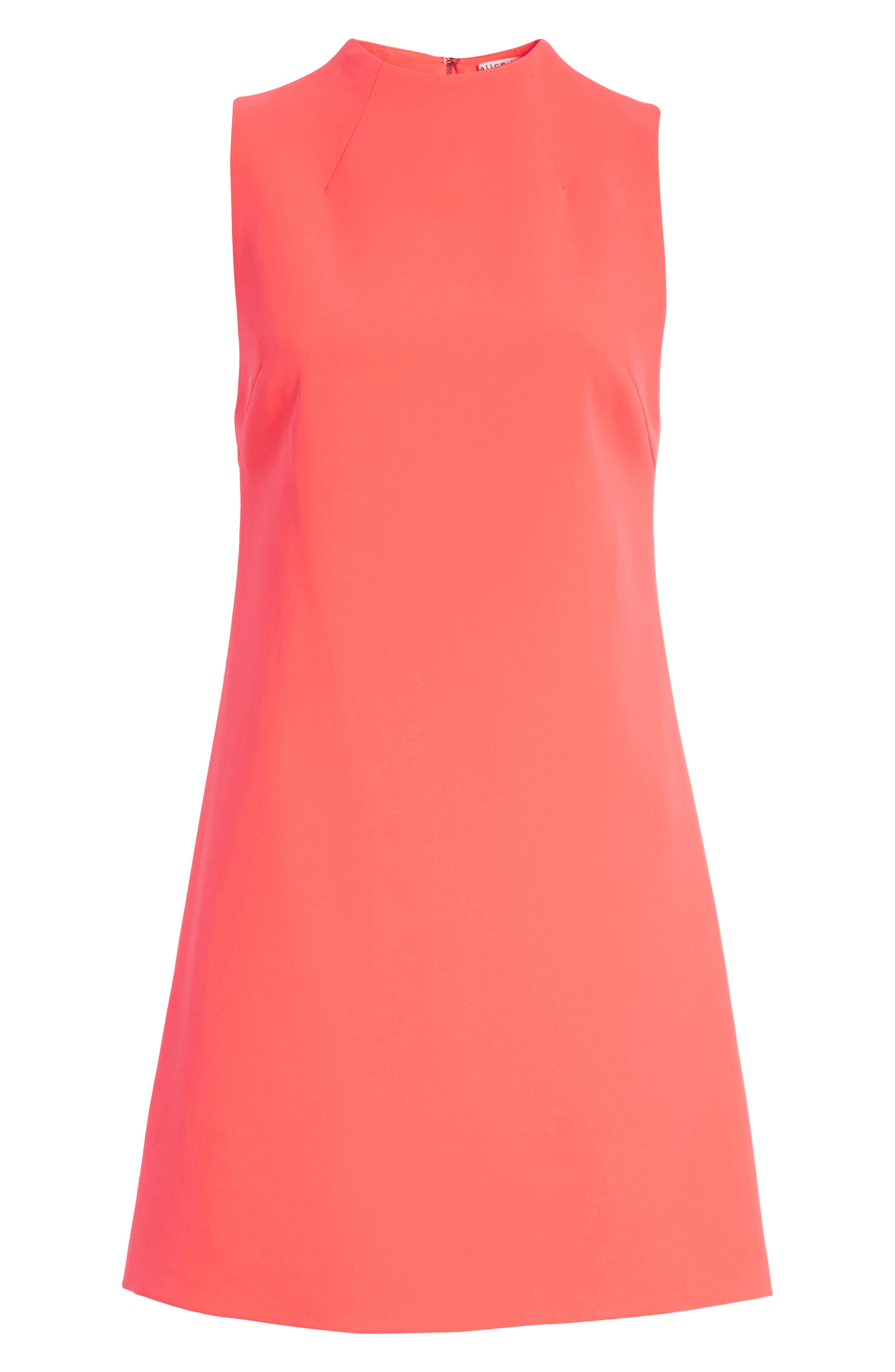 Coley A-Line Shift Dress,                             Alternate thumbnail 6, color,                             Neon Coral