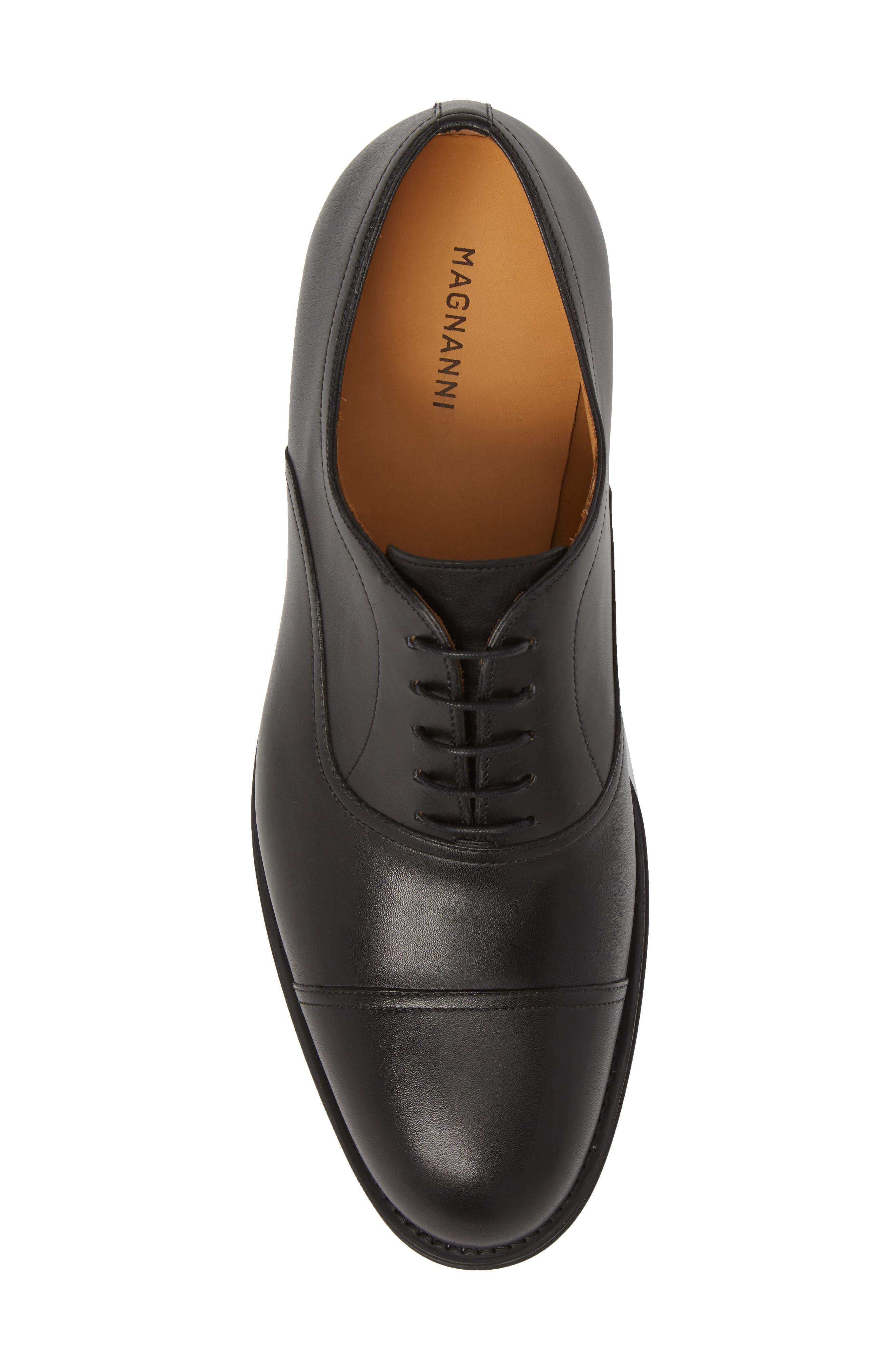 Tadeo Cap Toe Oxford,                             Alternate thumbnail 5, color,                             Black Leather