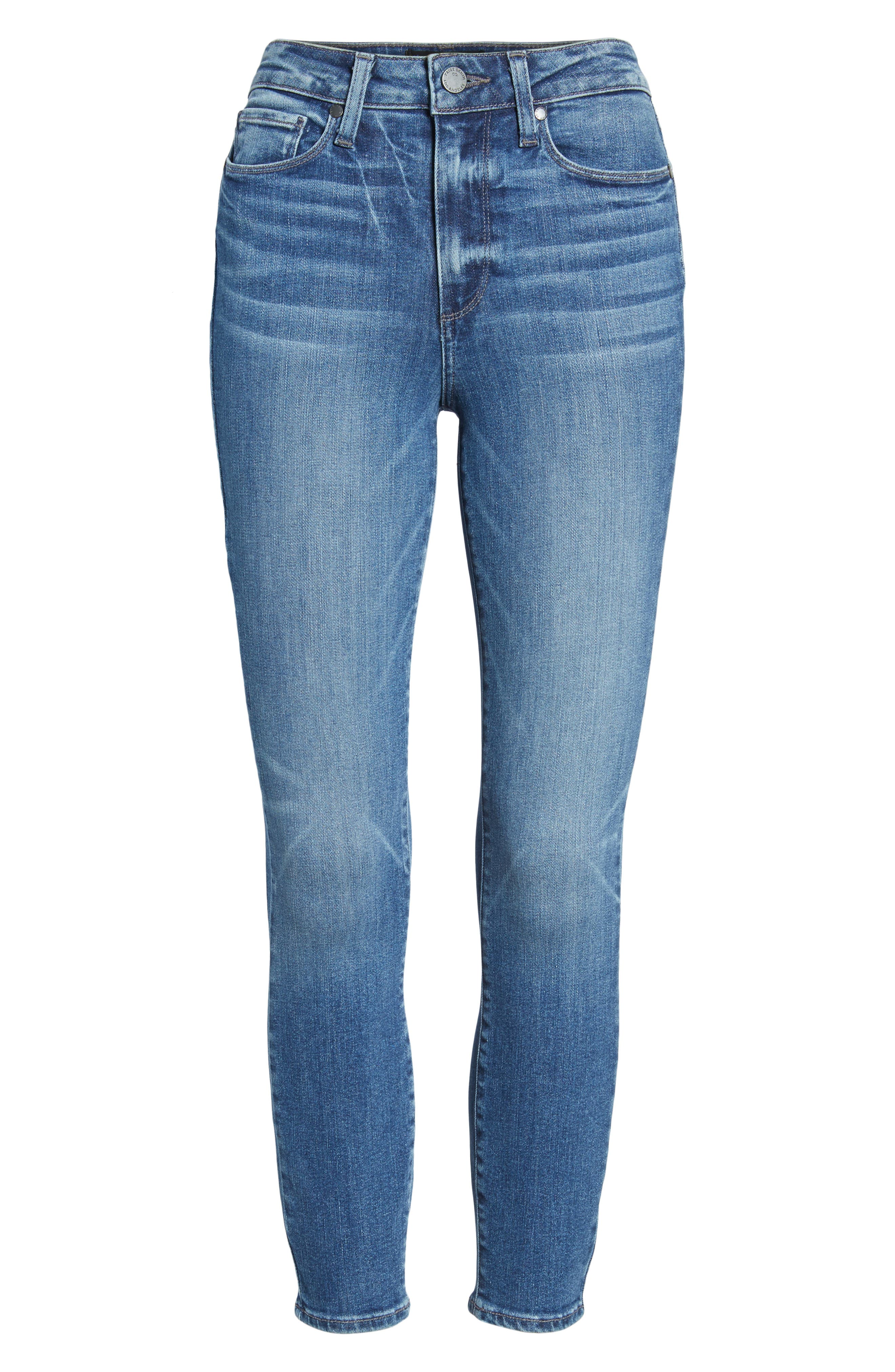 Hoxton High Waist Ankle Skinny Jeans,                             Alternate thumbnail 7, color,                             Bloomfield
