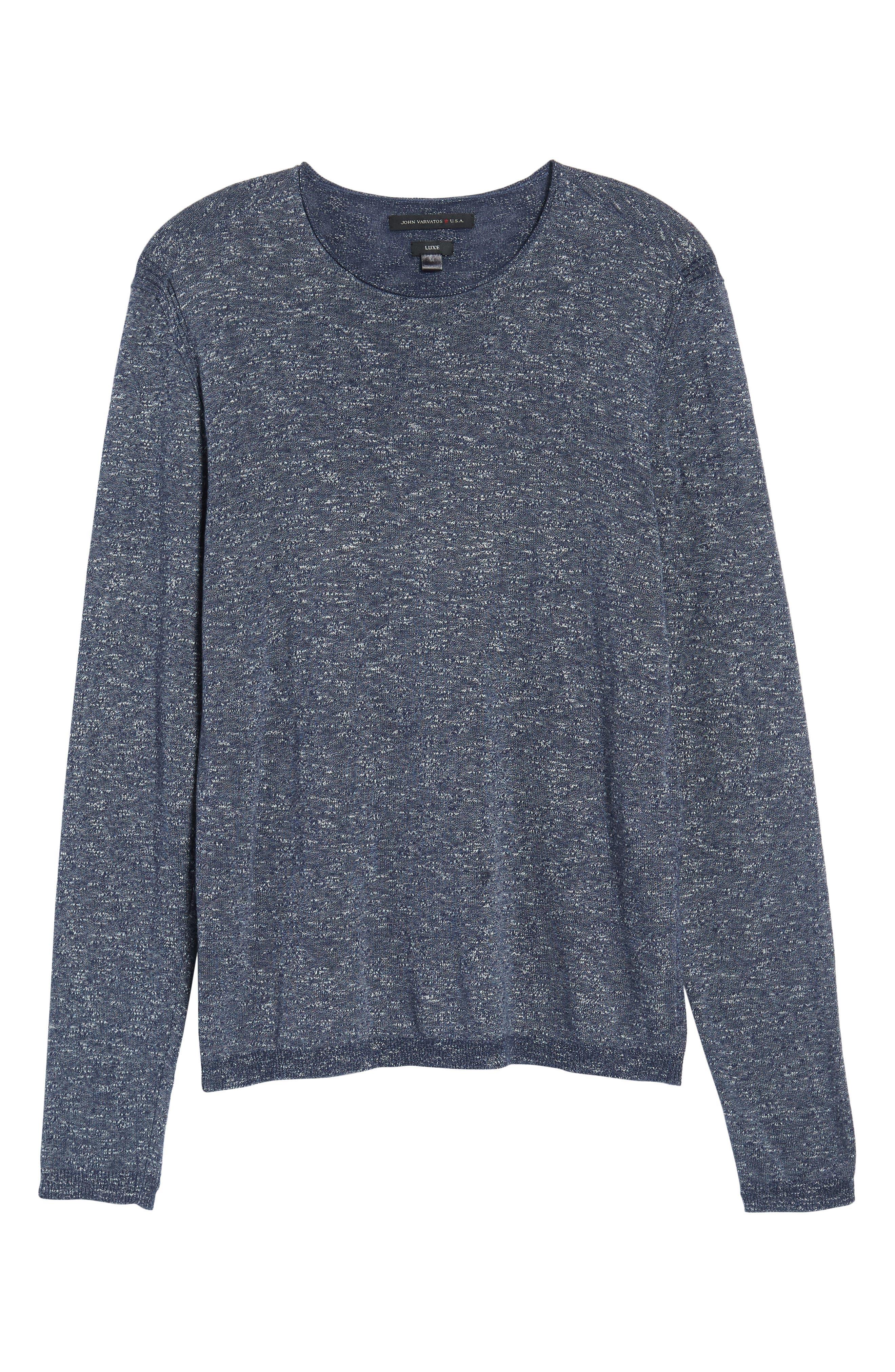 Slim Fit Cotton Blend Sweater,                             Alternate thumbnail 6, color,                             Officer Blue