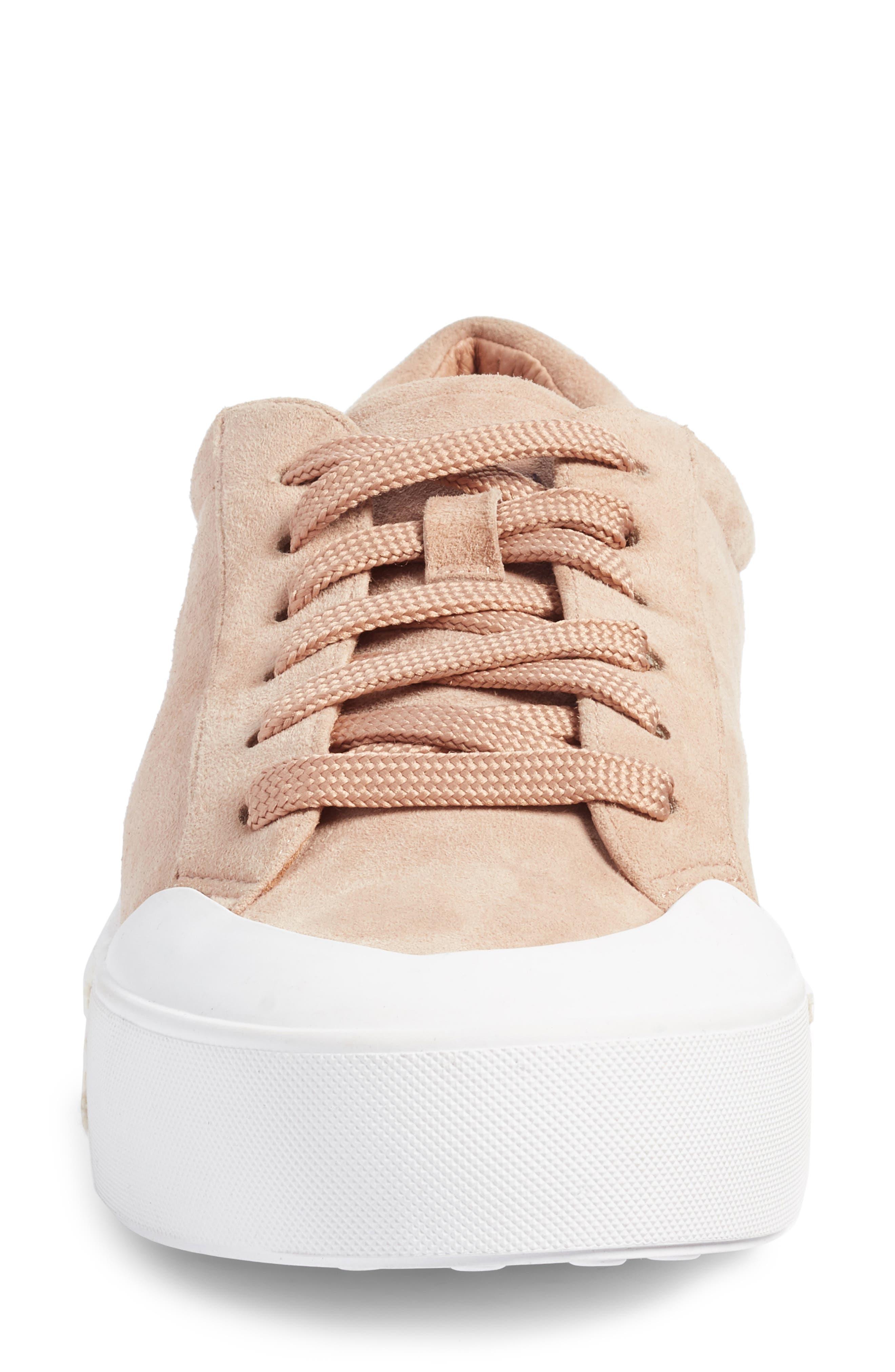 Toran Platform Sneaker,                             Alternate thumbnail 4, color,                             Blush Suede