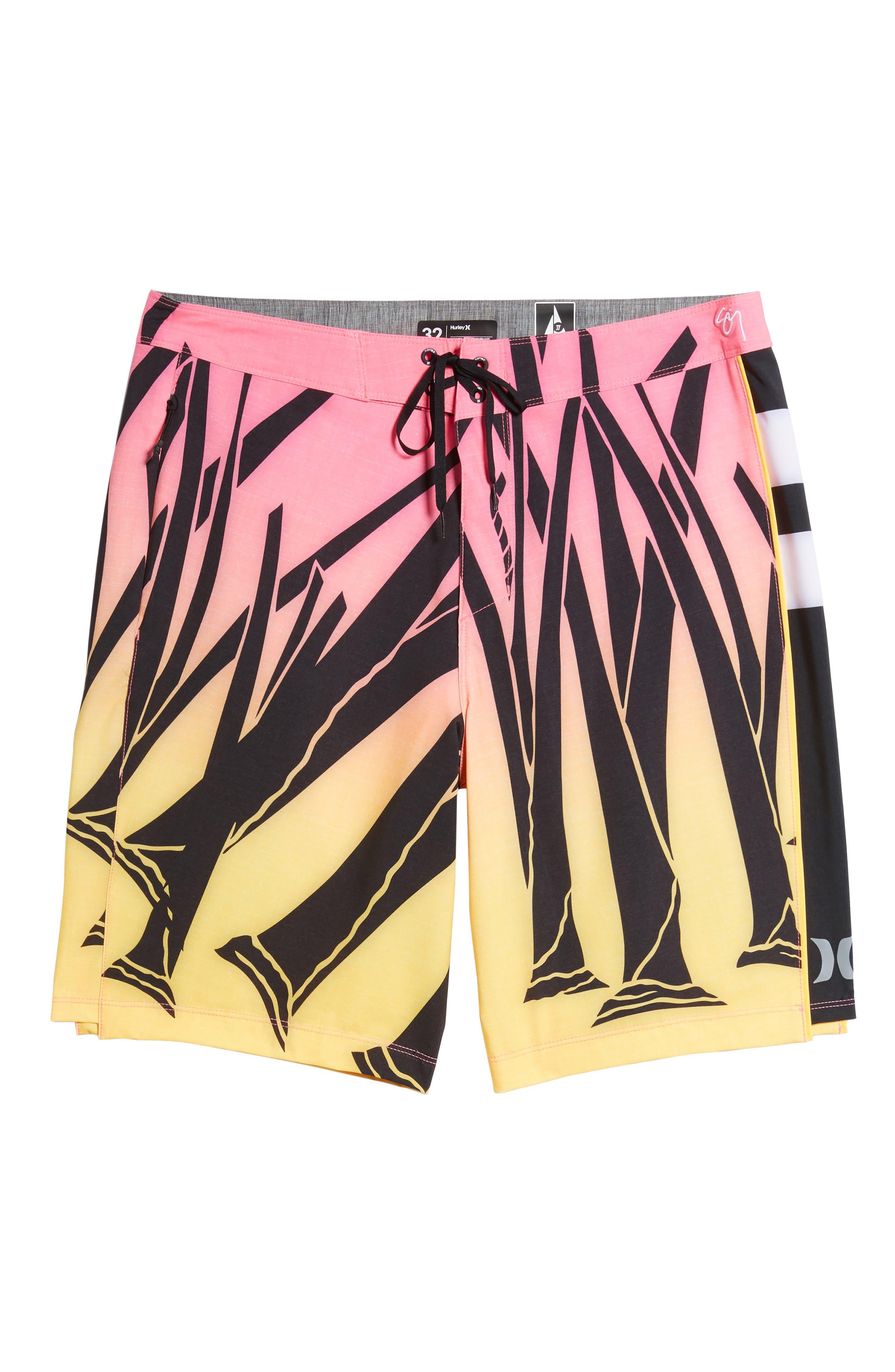 JJF IV Kahuliwae Board Shorts,                             Alternate thumbnail 6, color,                             Hyper Pink