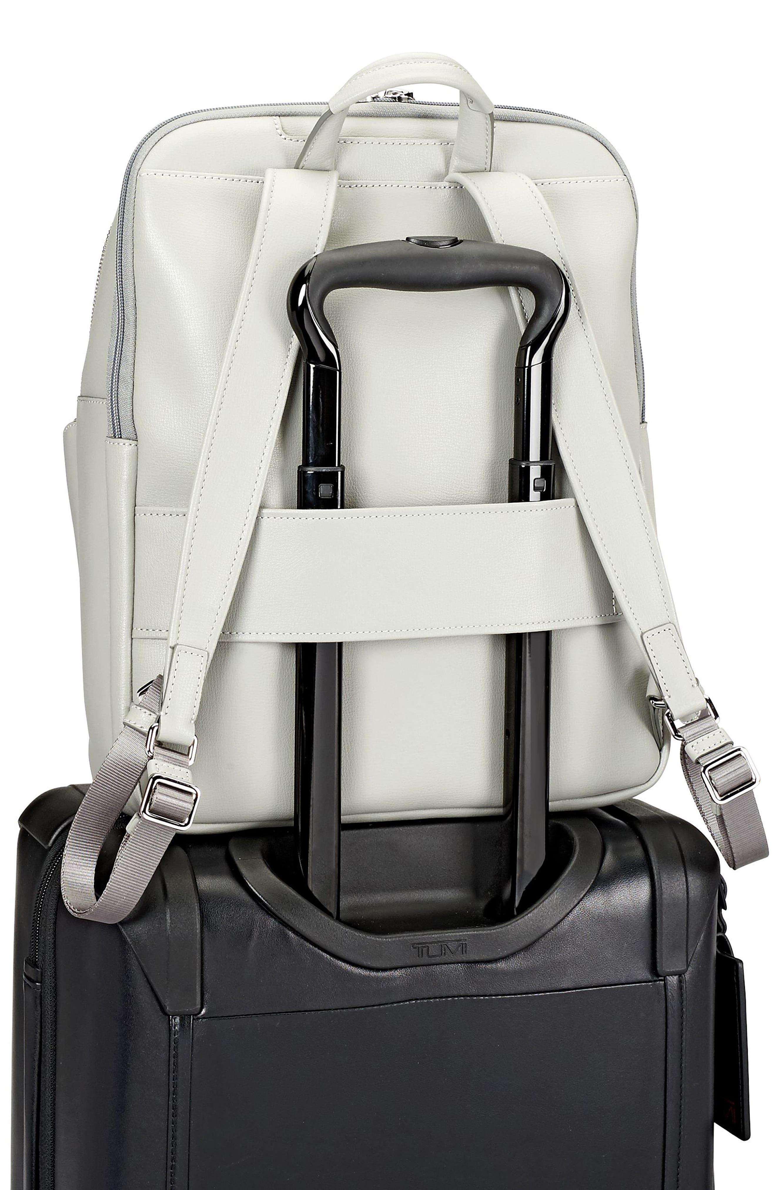 Stanton Hettie Leather Backpack,                             Alternate thumbnail 6, color,                             Light Grey