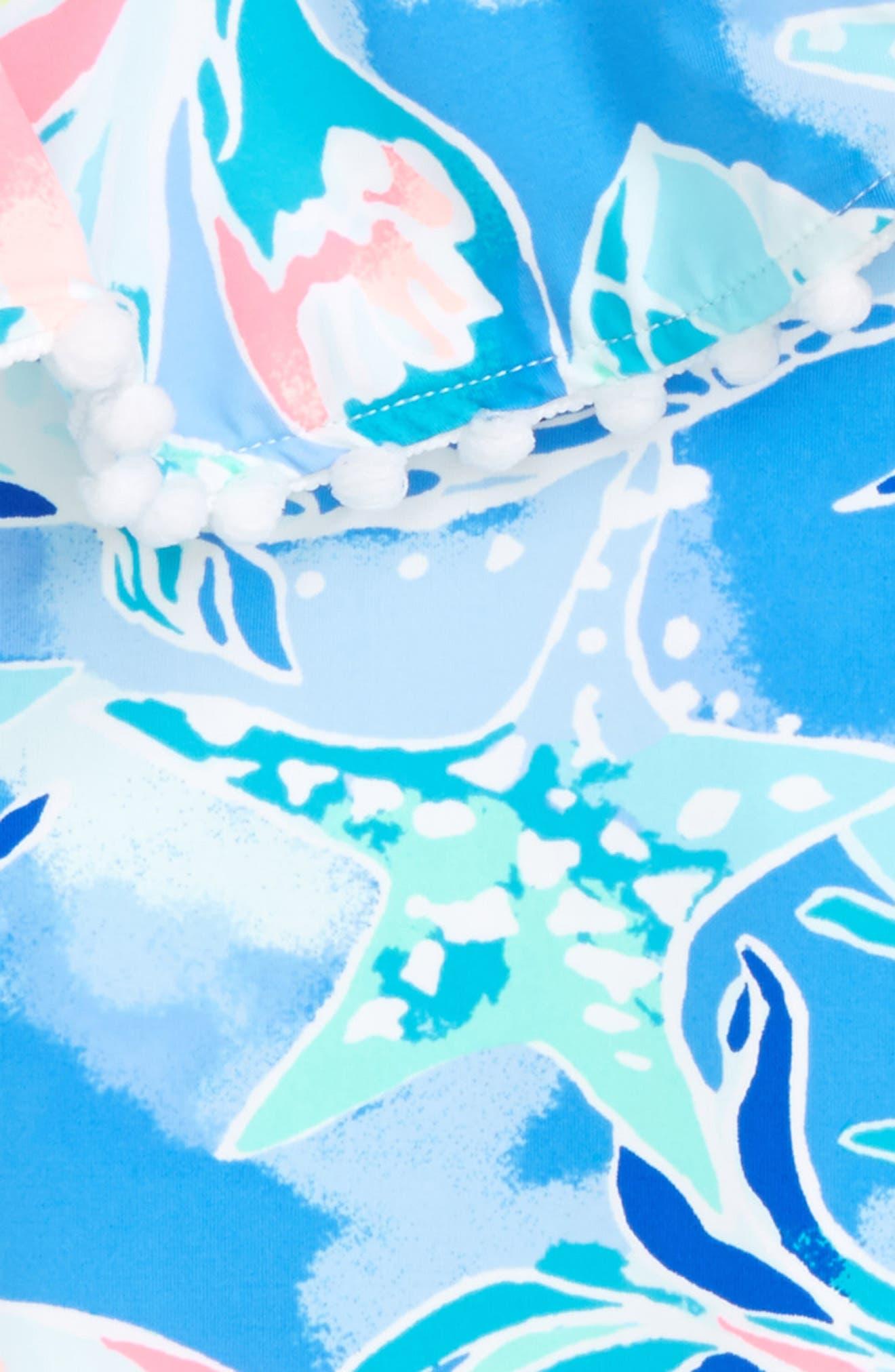 Joni Ruffle One-Piece Swimsuit,                             Alternate thumbnail 2, color,                             Bennet Blue Celestial Seas