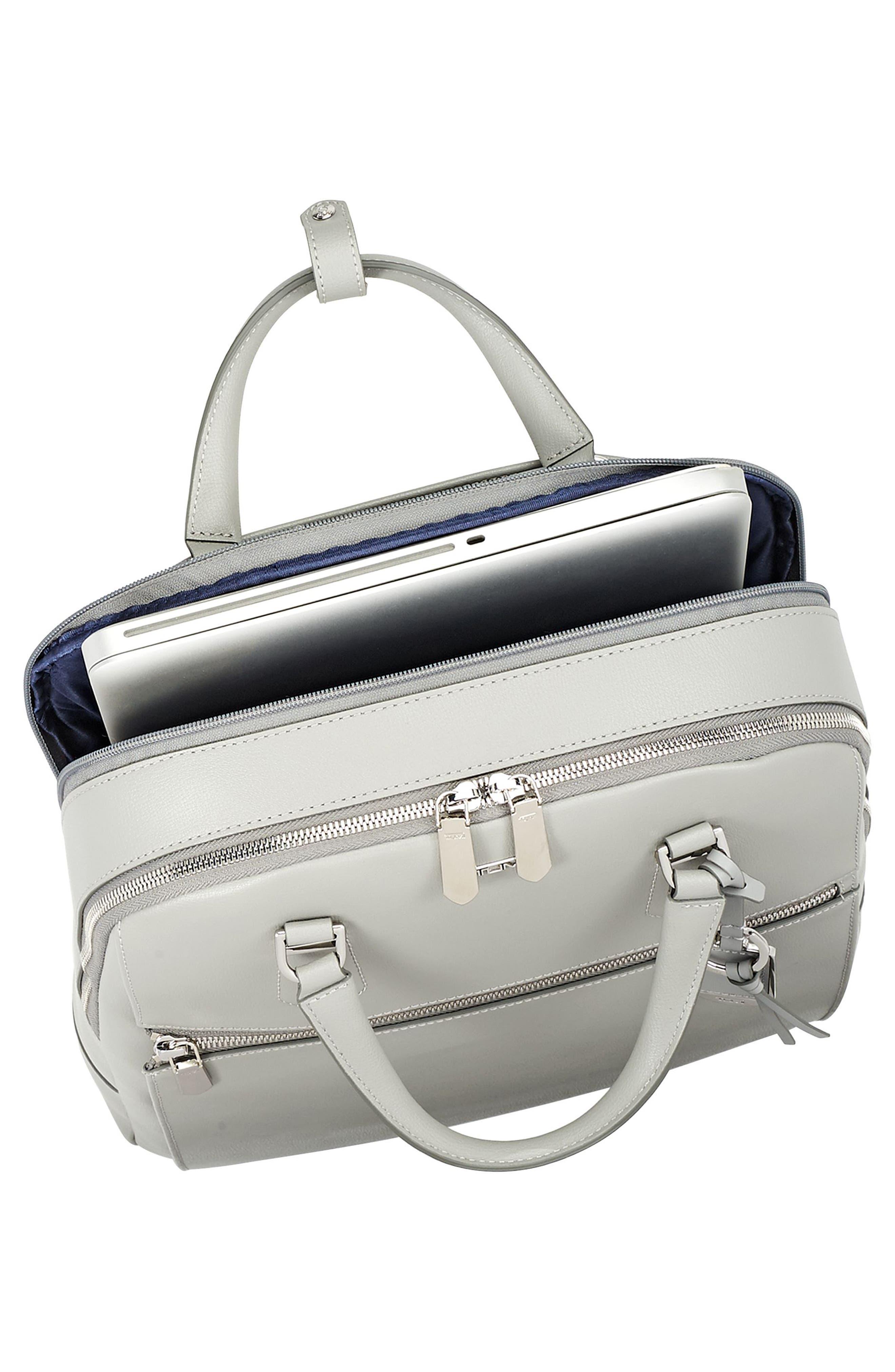 Stanton Orion Leather Backpack,                             Alternate thumbnail 3, color,                             Light Grey