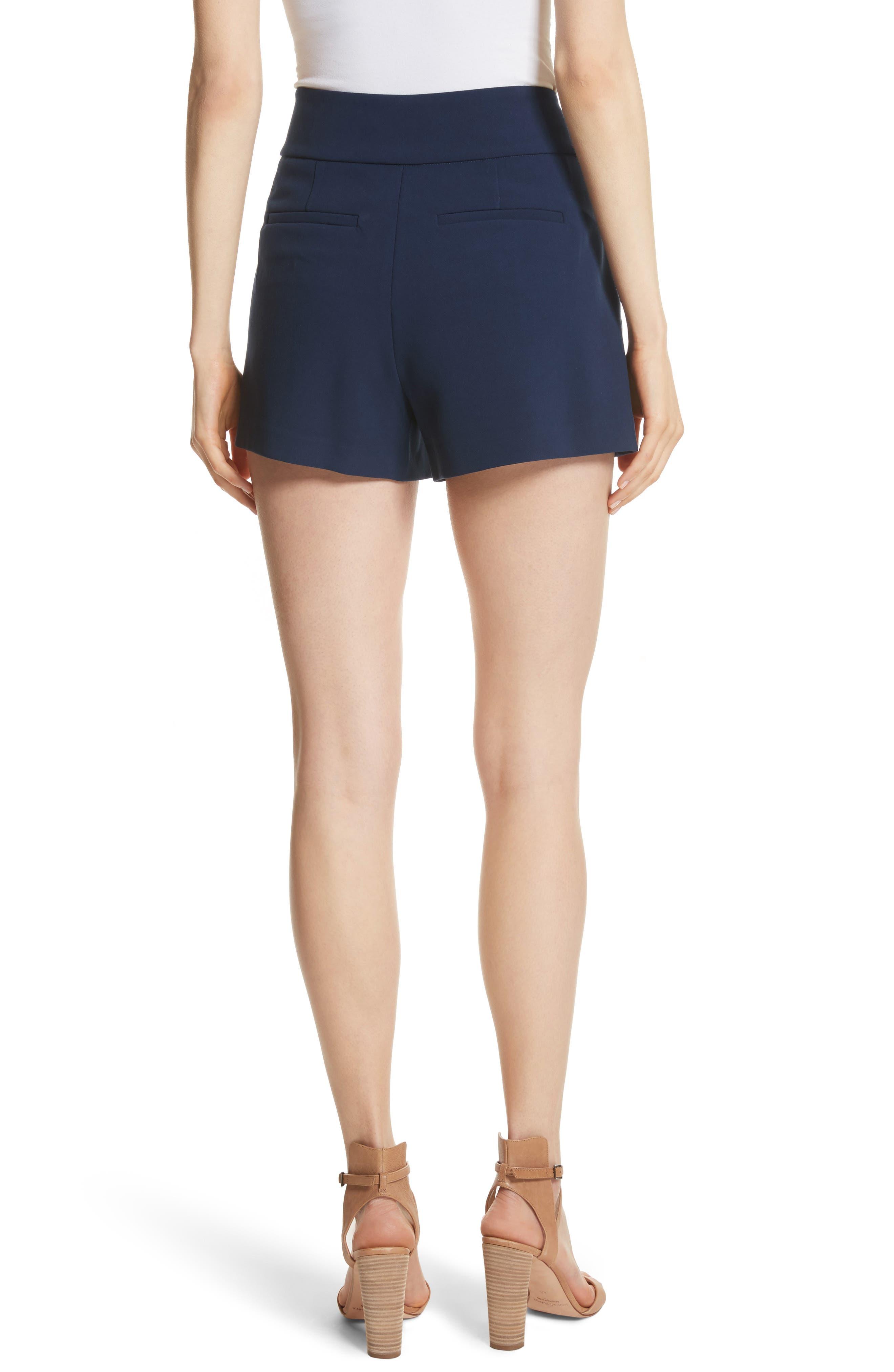 Donald High Waist Sailor Shorts,                             Alternate thumbnail 2, color,                             Sapphire