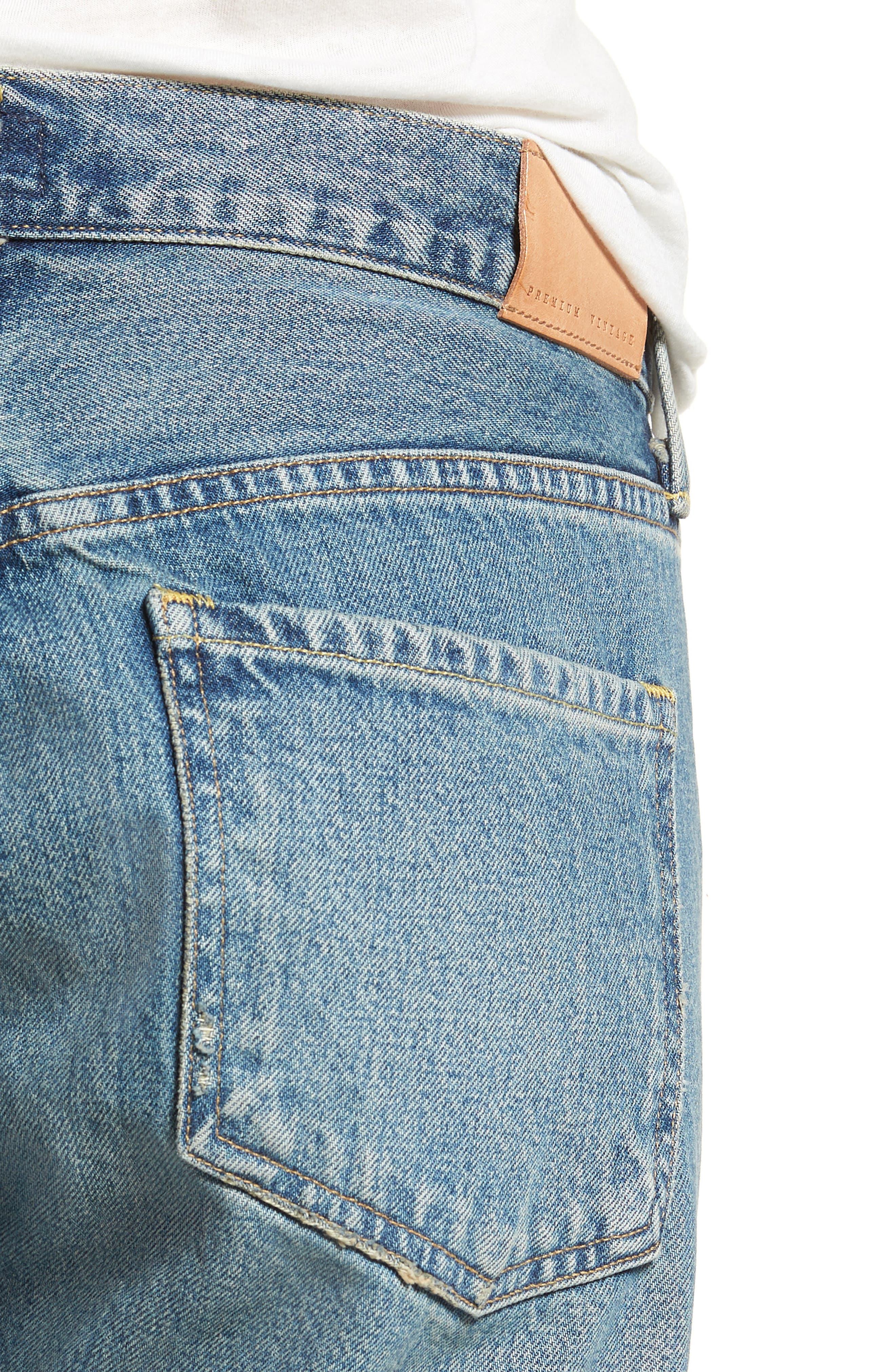 Emerson Crop Slim Boyfriend Jeans,                             Alternate thumbnail 4, color,                             Somerset