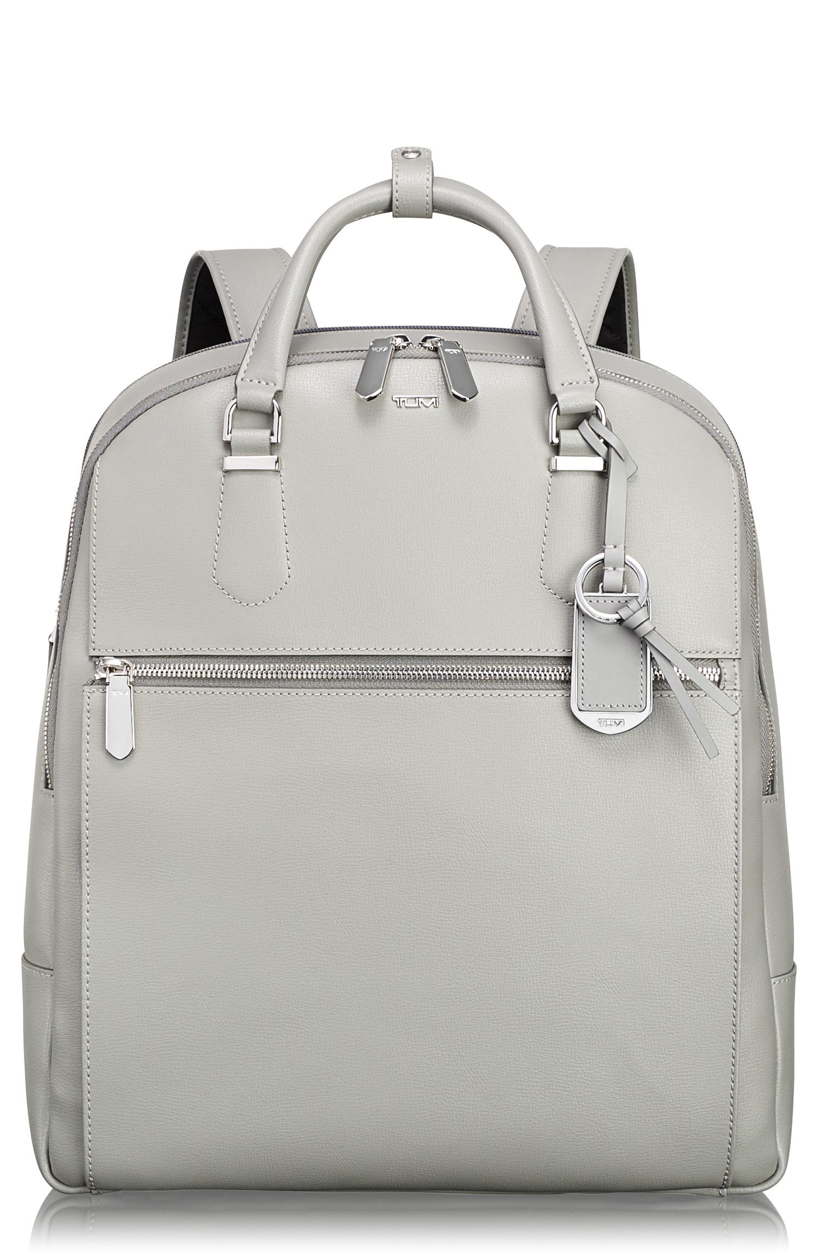 Stanton Orion Leather Backpack,                         Main,                         color, Light Grey