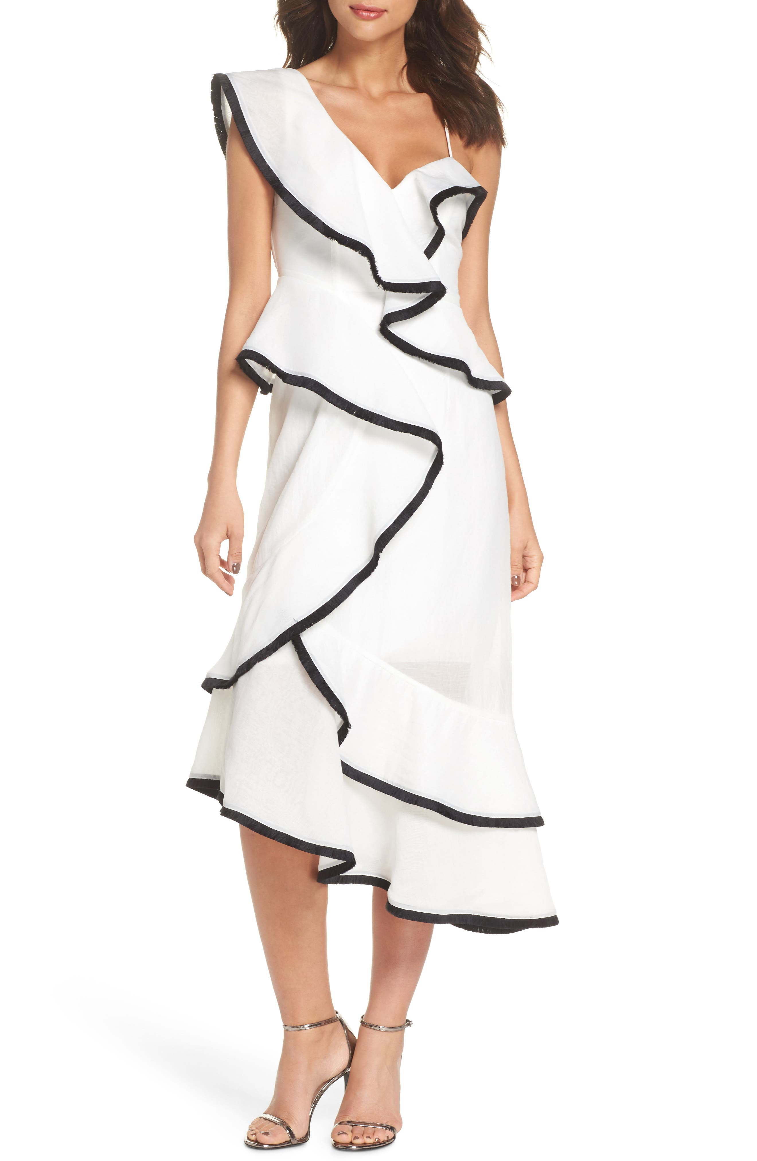 My Everything One-Shoulder Asymmetric Dress,                         Main,                         color, Ivory
